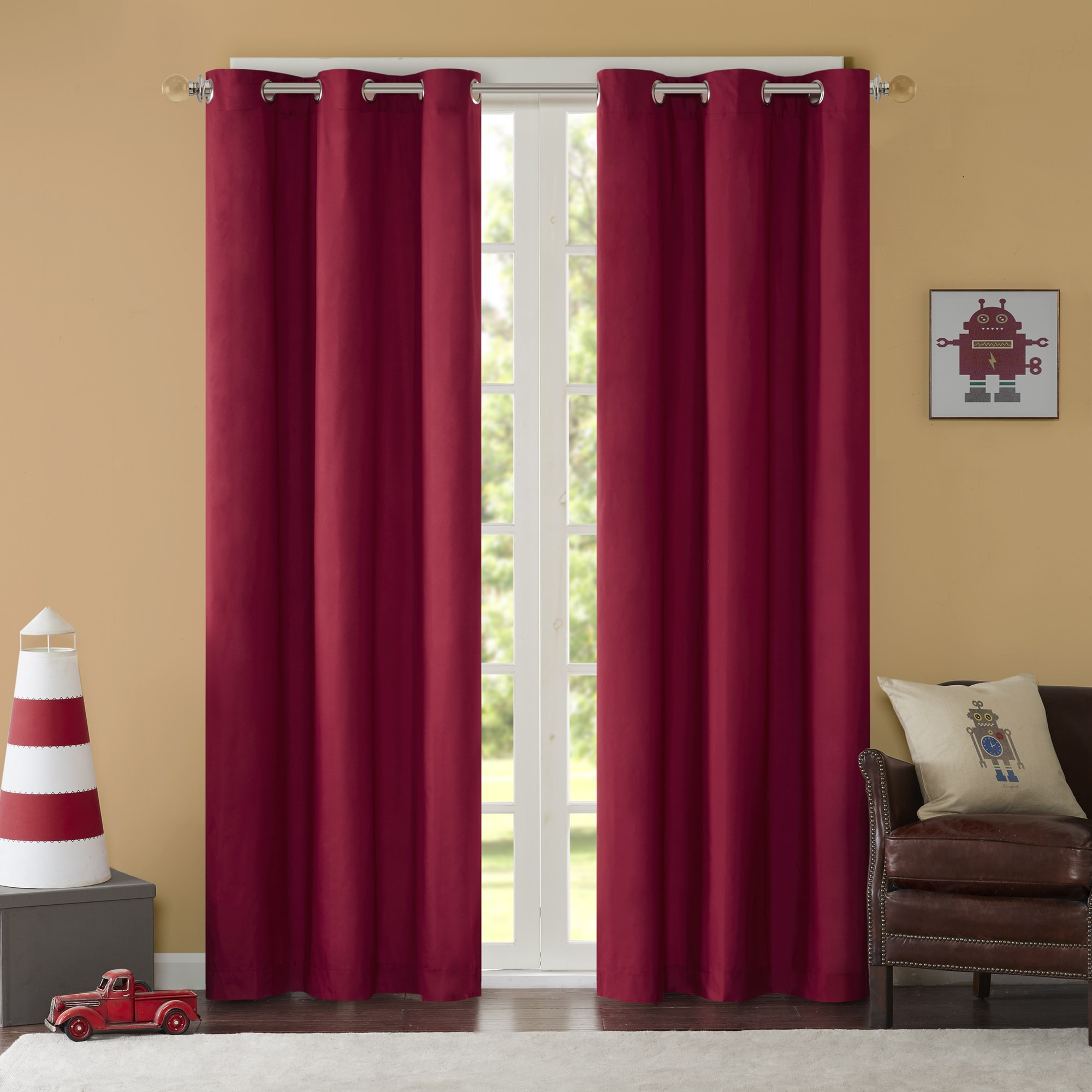 Home Essence Teen Edson Solid Grommet Top Curtain Panel Pair Inside Solid Grommet Top Curtain Panel Pairs (View 14 of 30)