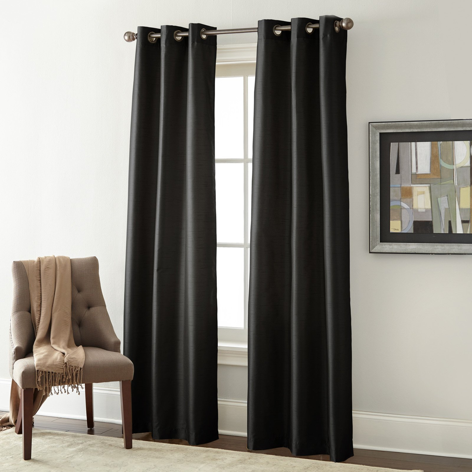 Home Essentials Solid Blackout Grommet Panel Curtain Set With Regard To The Gray Barn Gila Curtain Panel Pairs (View 16 of 30)