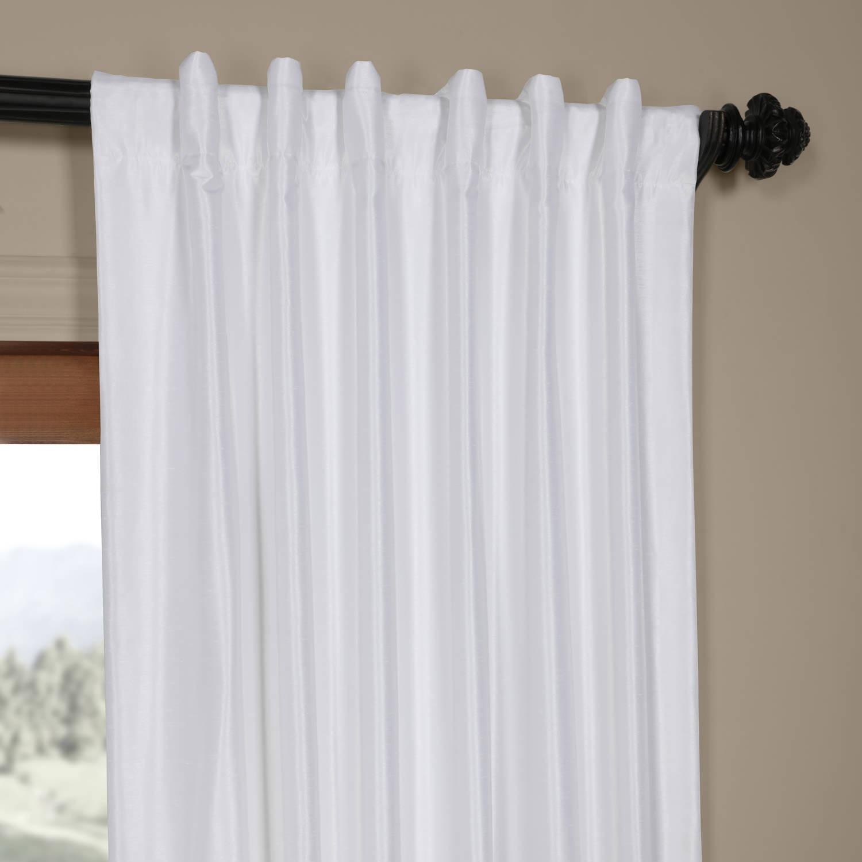 Ice White Vintage Faux Textured Dupioni Silk 108l Curtain Panel Pertaining To Ice White Vintage Faux Textured Silk Curtain Panels (View 6 of 20)