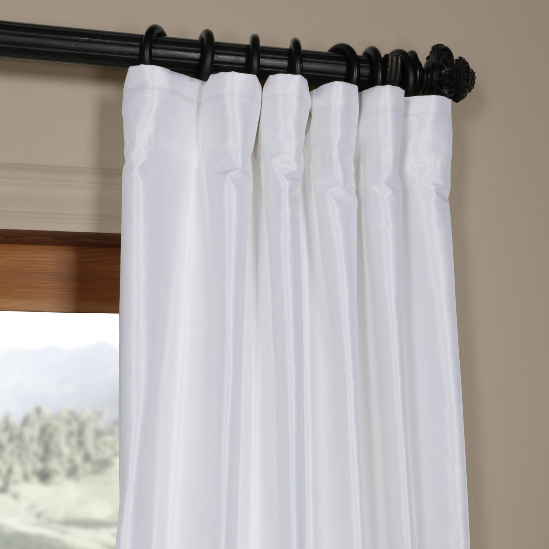 Ice White Vintage Faux Textured Dupioni Silk 108L Curtain Panel Throughout Ice White Vintage Faux Textured Silk Curtain Panels (View 19 of 20)