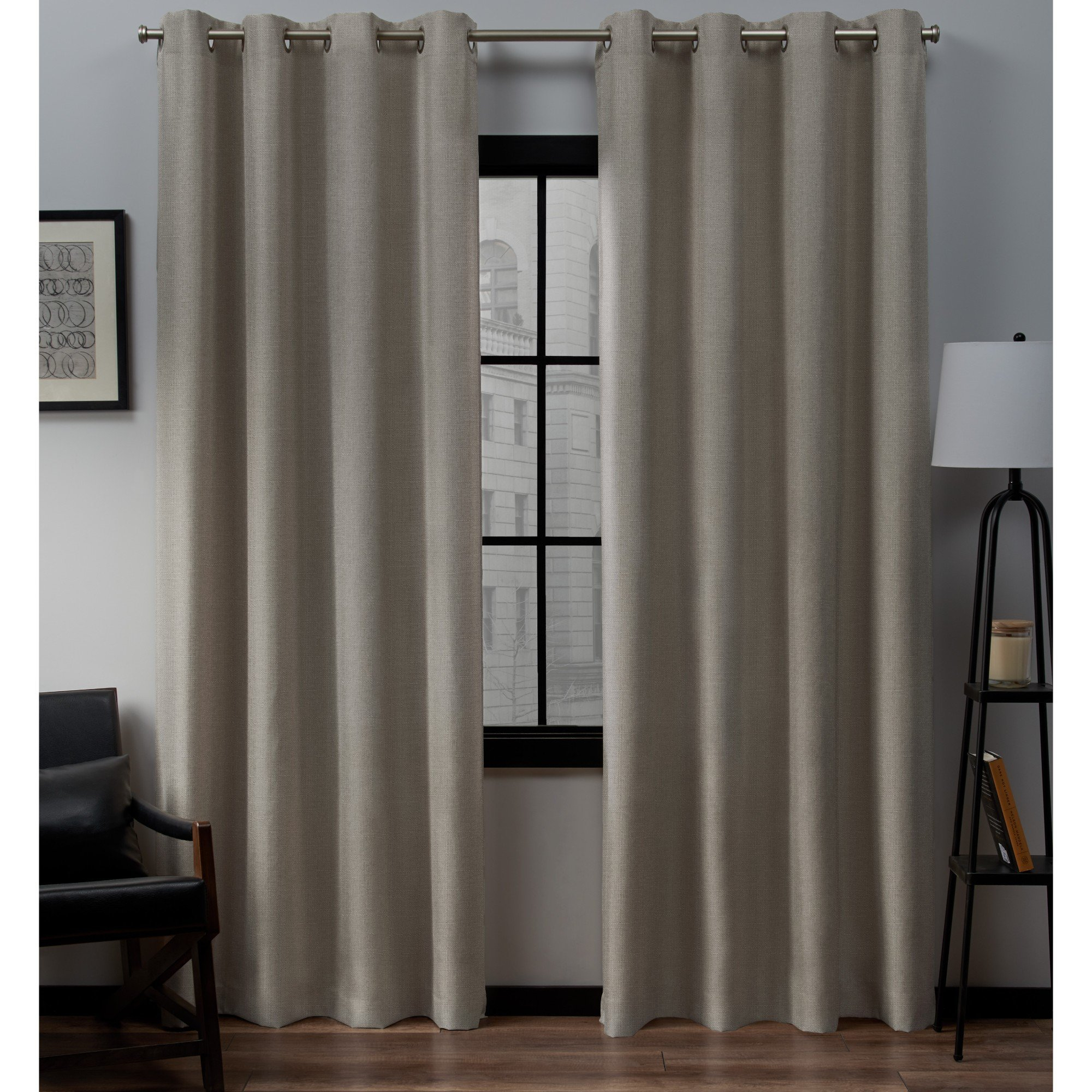 Ideas: Sensational Grommet Curtain Panels With Inspiring Within Superior Leaves Insulated Thermal Blackout Grommet Curtain Panel Pairs (View 10 of 30)