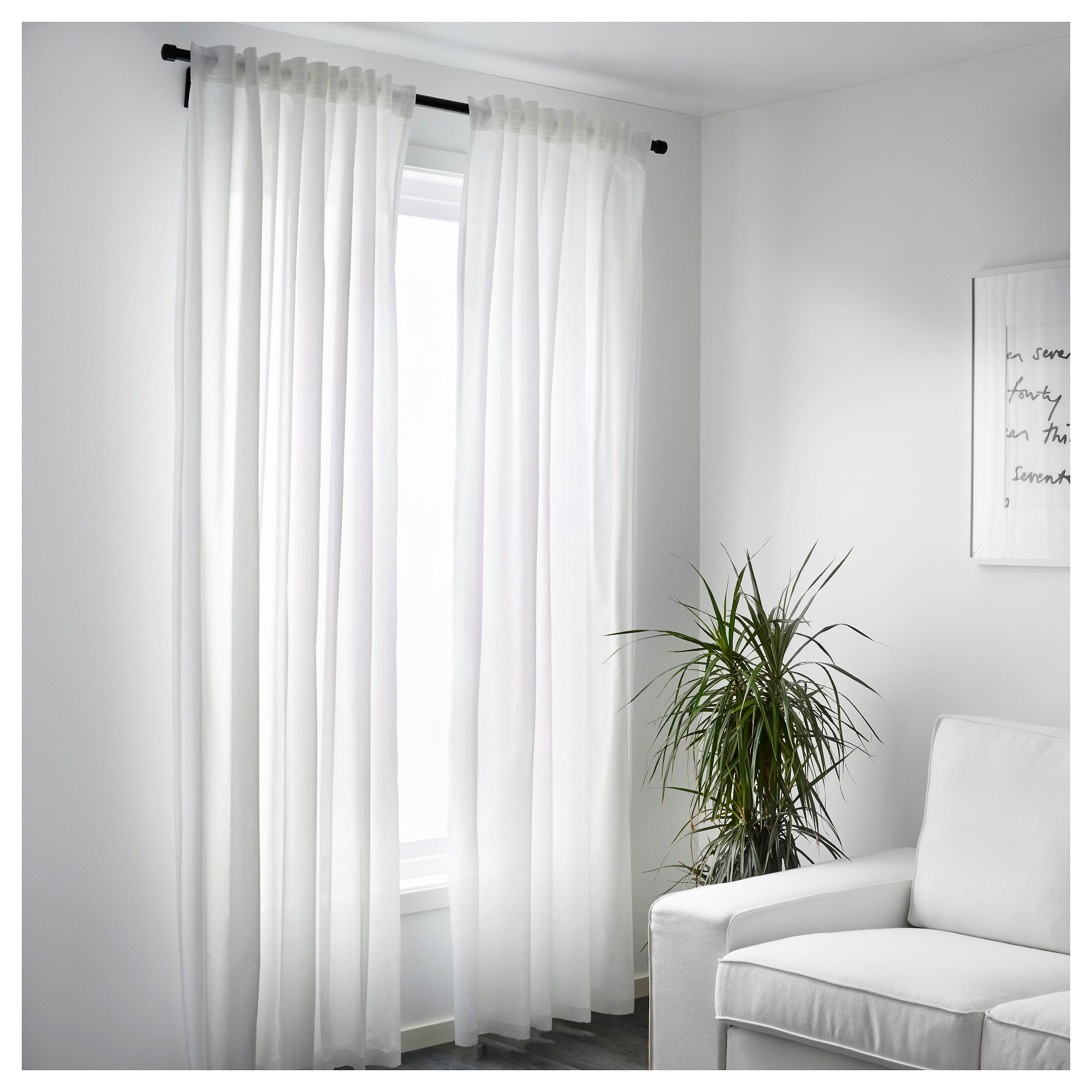 Ikea – Vivan Curtains, 1 Pair White | Products In 2019 In Luxury Collection Cranston Sheer Curtain Panel Pairs (View 15 of 20)