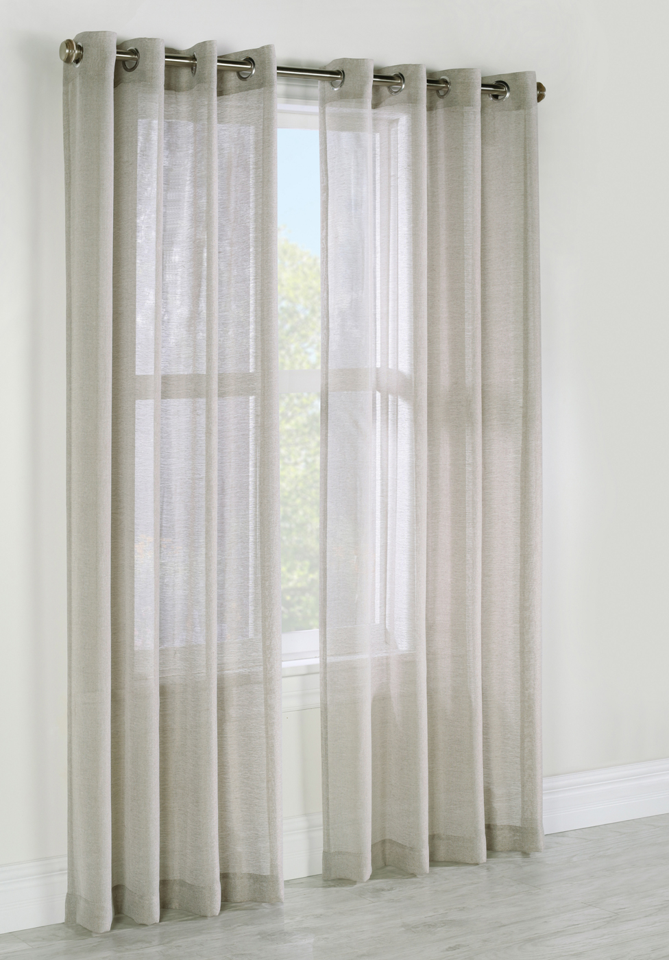 Indoor & Outdoor Grommet Top Curtains And Panels In Ombre Stripe Yarn Dyed Cotton Window Curtain Panel Pairs (View 9 of 20)