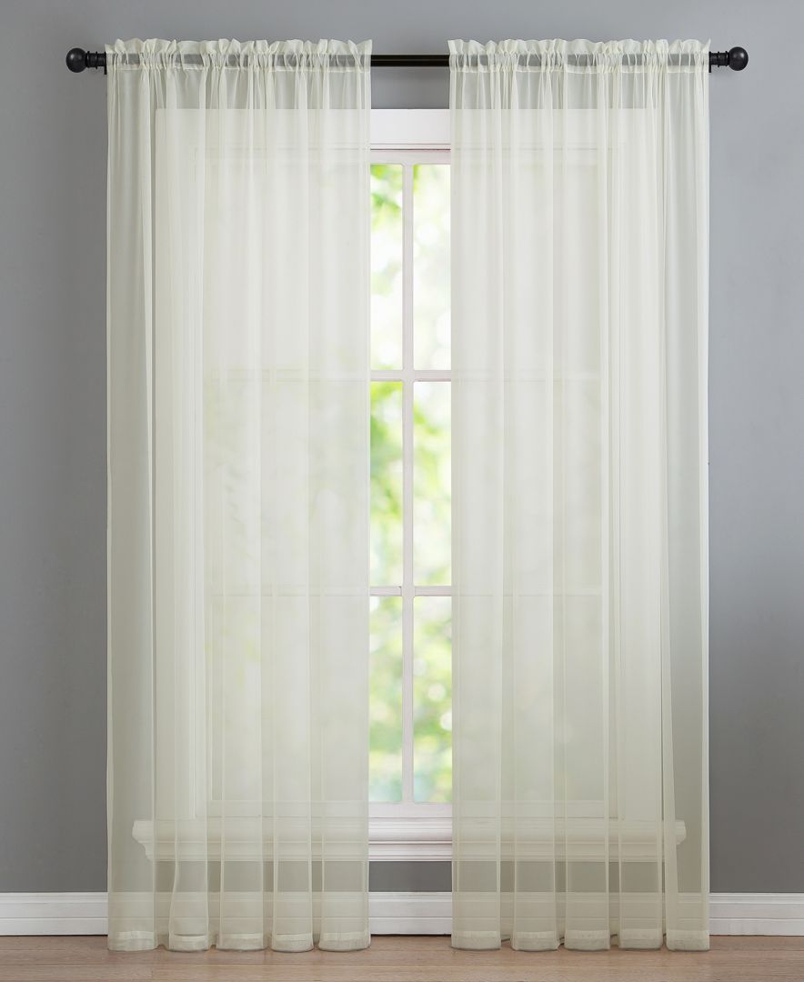 Infinity 55 X 95 Sheer Panel | Products | Curtains, Panel Pertaining To Infinity Sheer Rod Pocket Curtain Panels (View 6 of 20)