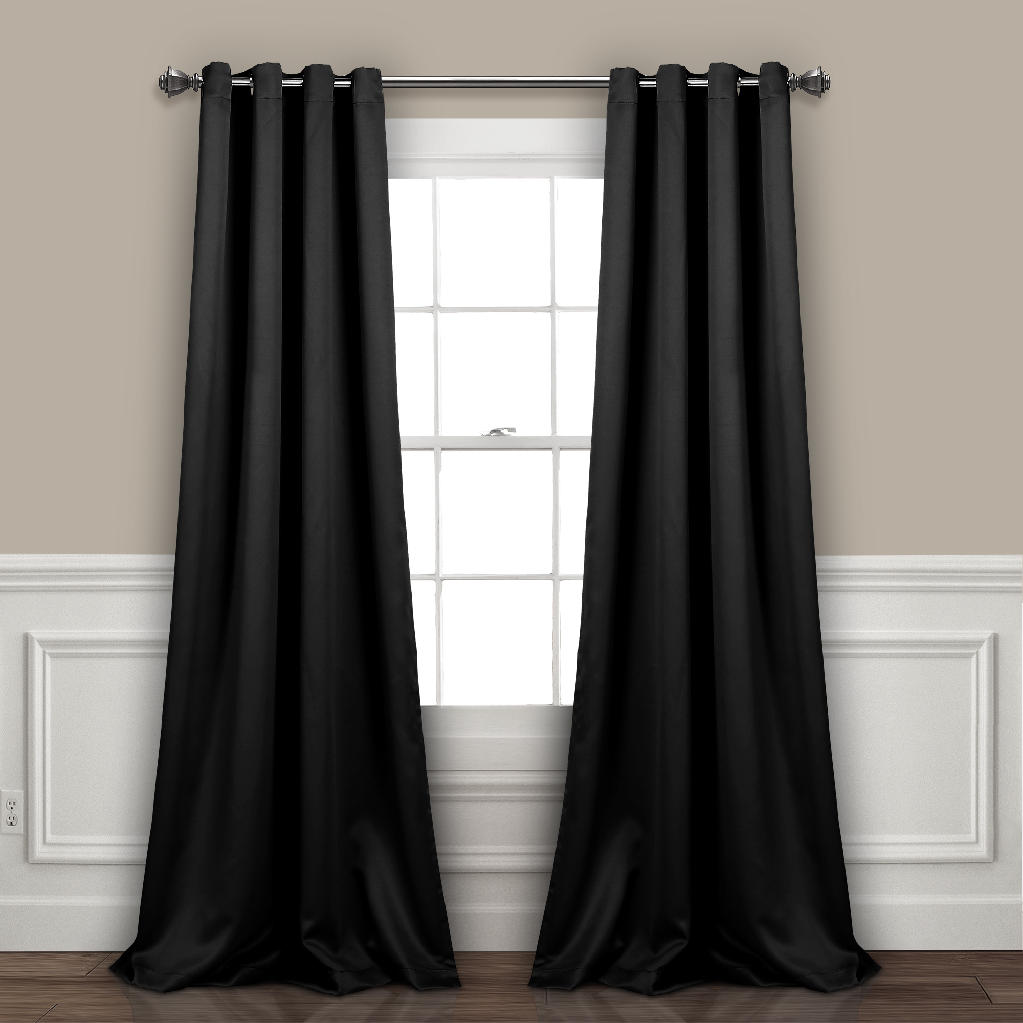 Insulated Grommet Blackout Curtain Set Up To 50%off Plus Inside Twig Insulated Blackout Curtain Panel Pairs With Grommet Top (View 20 of 30)
