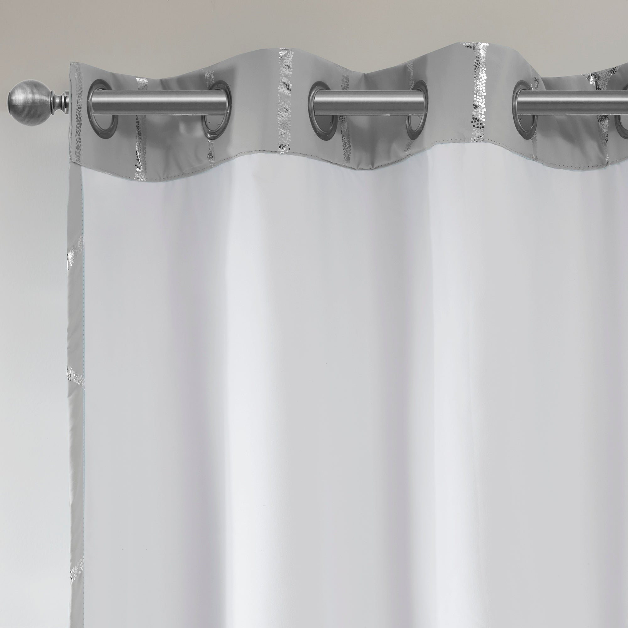 Intelligent Design Khloe Total Blackout Metallic Print Grommet Top Curtain Panel Within Total Blackout Metallic Print Grommet Top Curtain Panels (View 6 of 36)