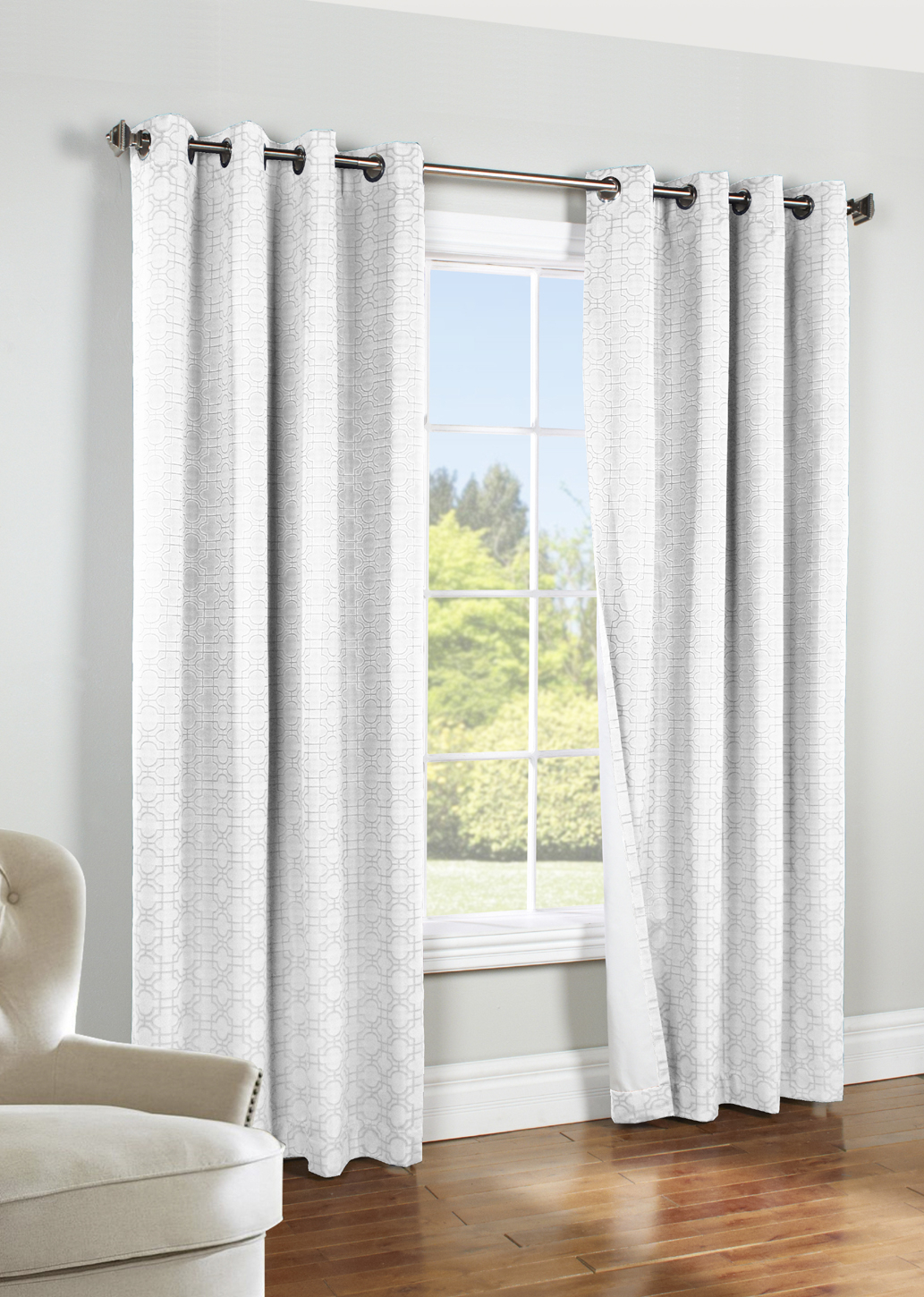 Irongate Insulated Blackout Grommet Curtain Panel – Thermaplus Inside Blackout Grommet Curtain Panels (View 7 of 20)