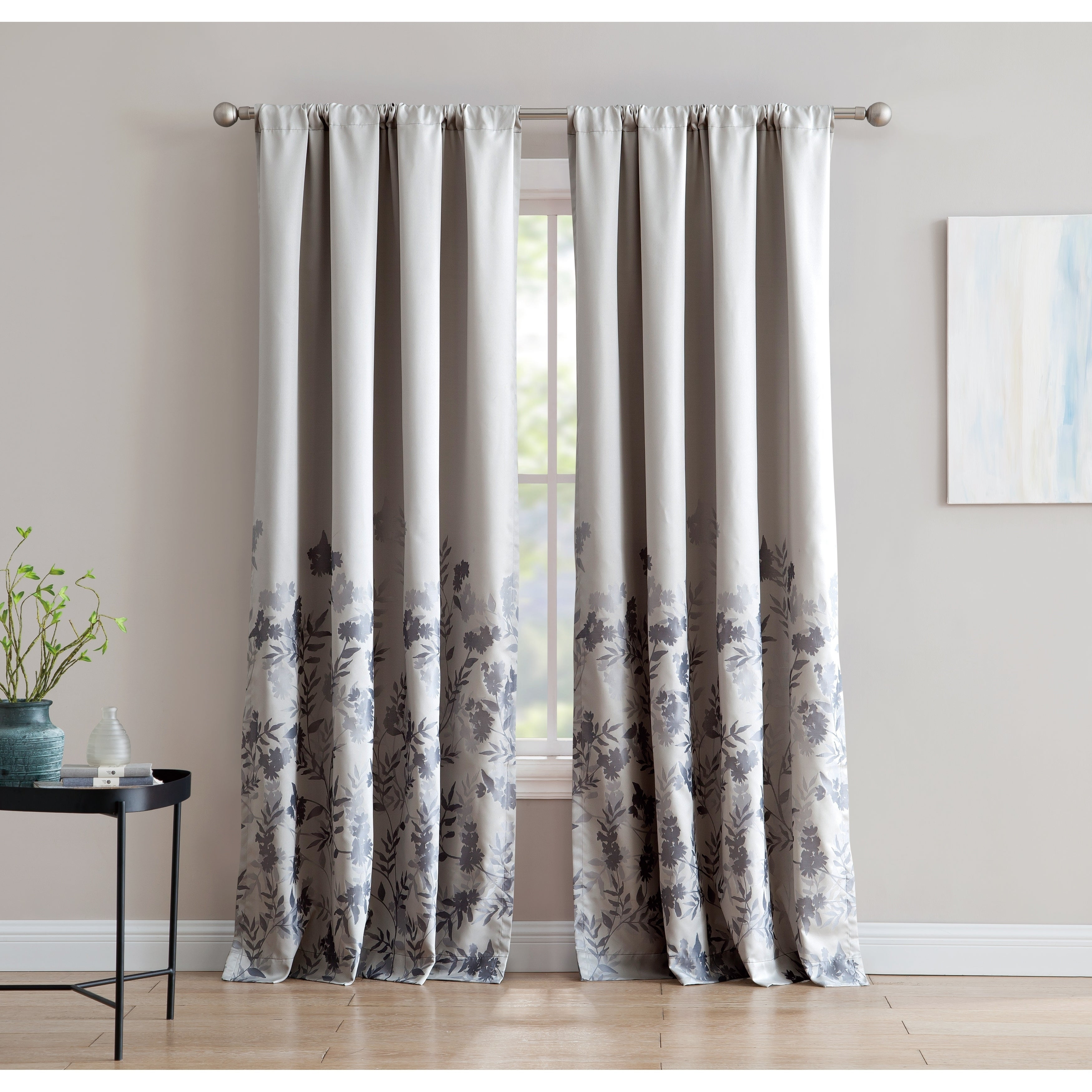 Isabelle Jacquard 84 Inch Window Curtain With Rod Pocket Single Panel, Inspired Surroundings1888 Mills Regarding Willow Rod Pocket Window Curtain Panels (View 14 of 30)