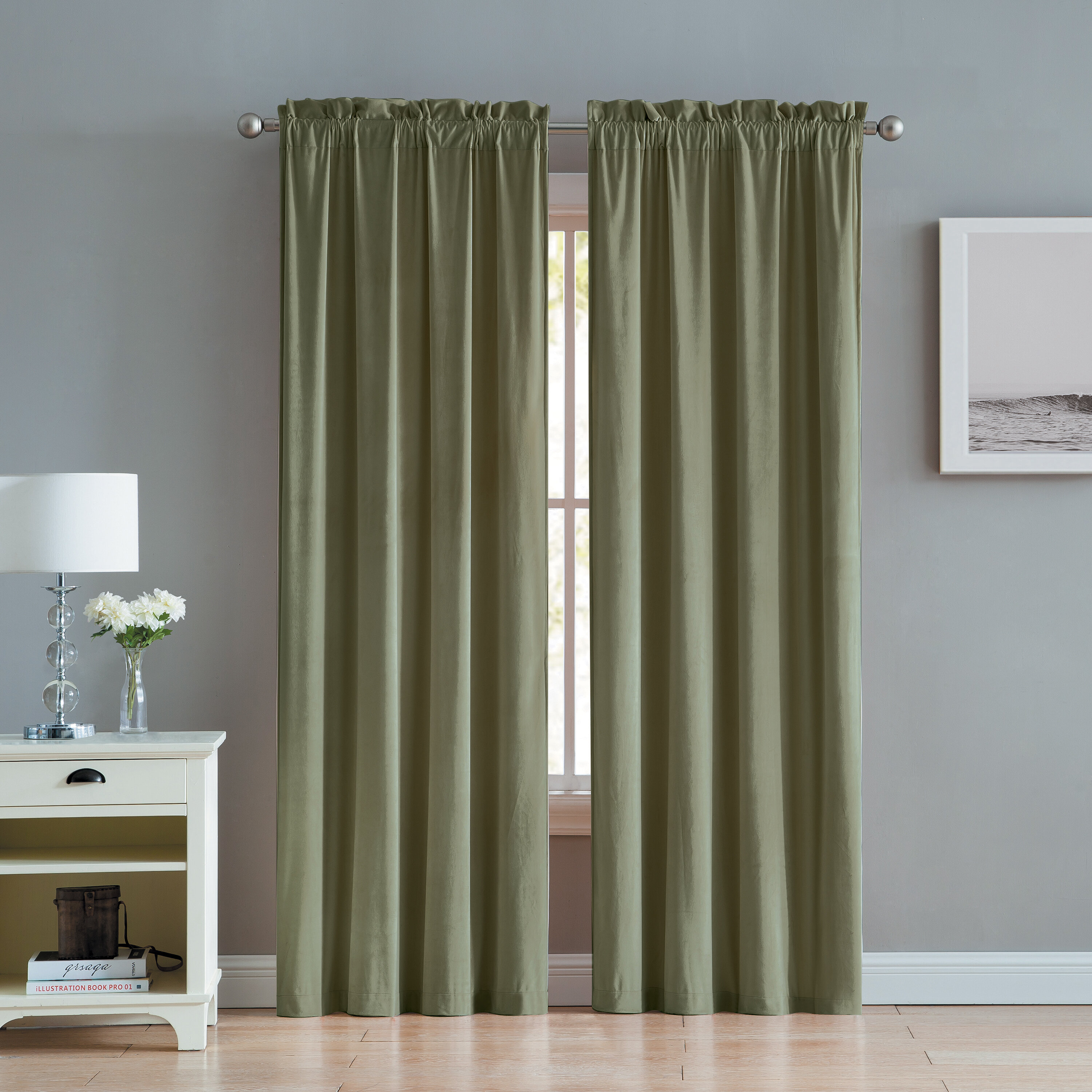 Judsonia Velvet Solid Room Darkening Rod Pocket Curtain Panels Throughout Velvet Solid Room Darkening Window Curtain Panel Sets (View 9 of 30)