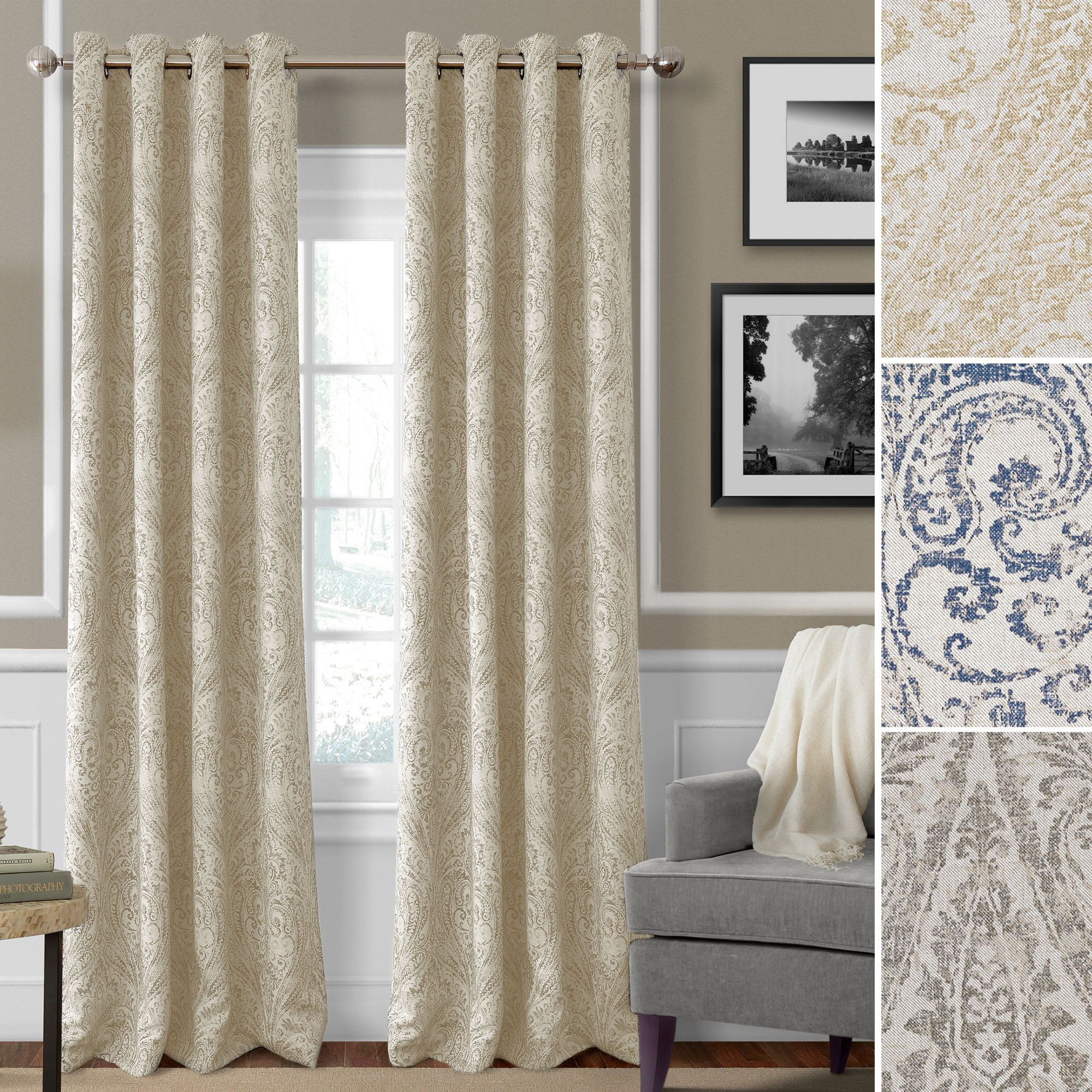 Julianne Room Darkening Grommet Curtain Panels throughout Grommet Room Darkening Curtain Panels (Image 9 of 20)
