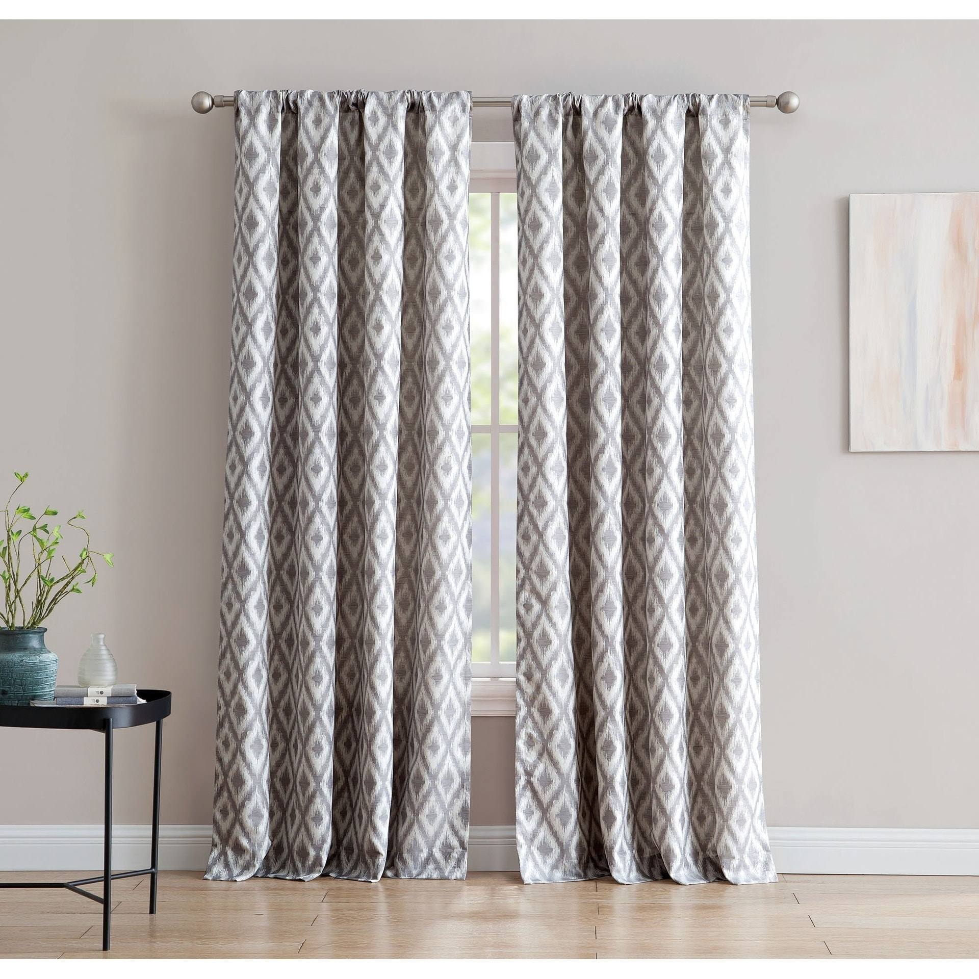 Kalahari Jacquard 84 Inch Window Curtain With Rod Pocket Regarding Sunsmart Dahlia Paisley Printed Total Blackout Single Window Curtain Panels (View 16 of 30)