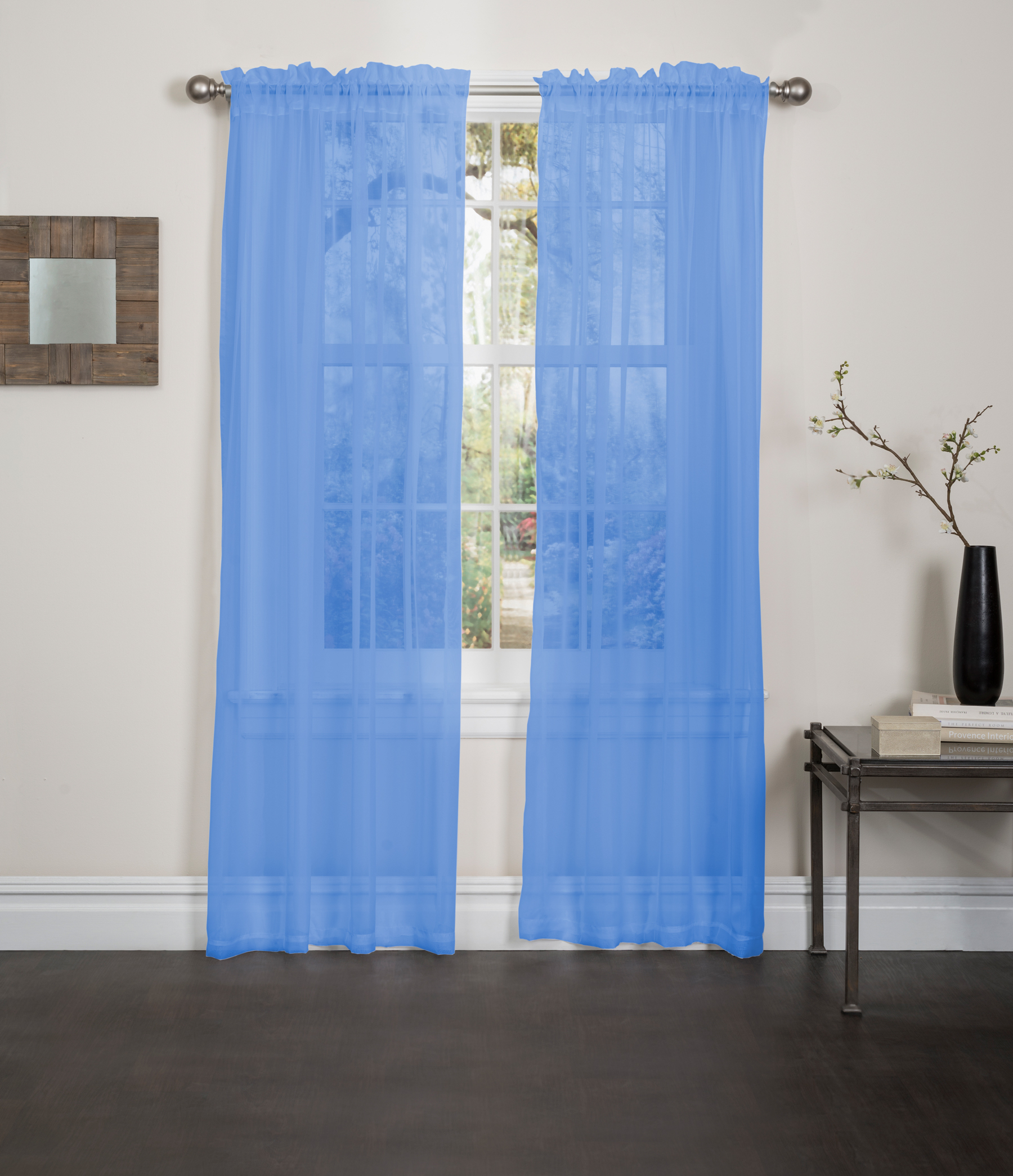 Kashi Home Lisa Solid Sheer Rod Pocket Single Curtain Panel In Vina Sheer Bird Single Curtain Panels (Gallery 26 of 30)