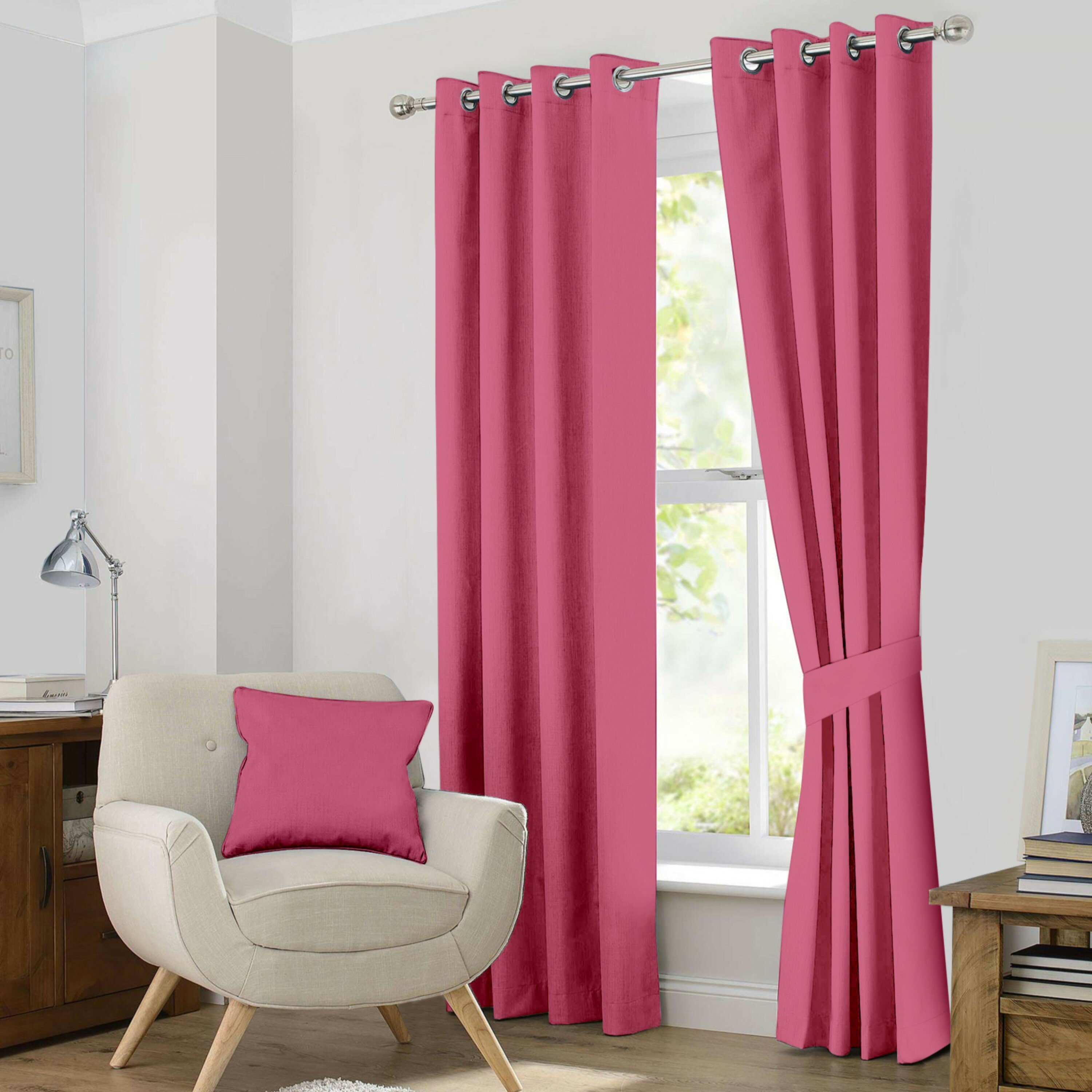 Kaylee Solid Blackout Thermal Grommet Curtain Panels Intended For Kaylee Solid Crushed Sheer Window Curtain Pairs (Photo 13 of 20)