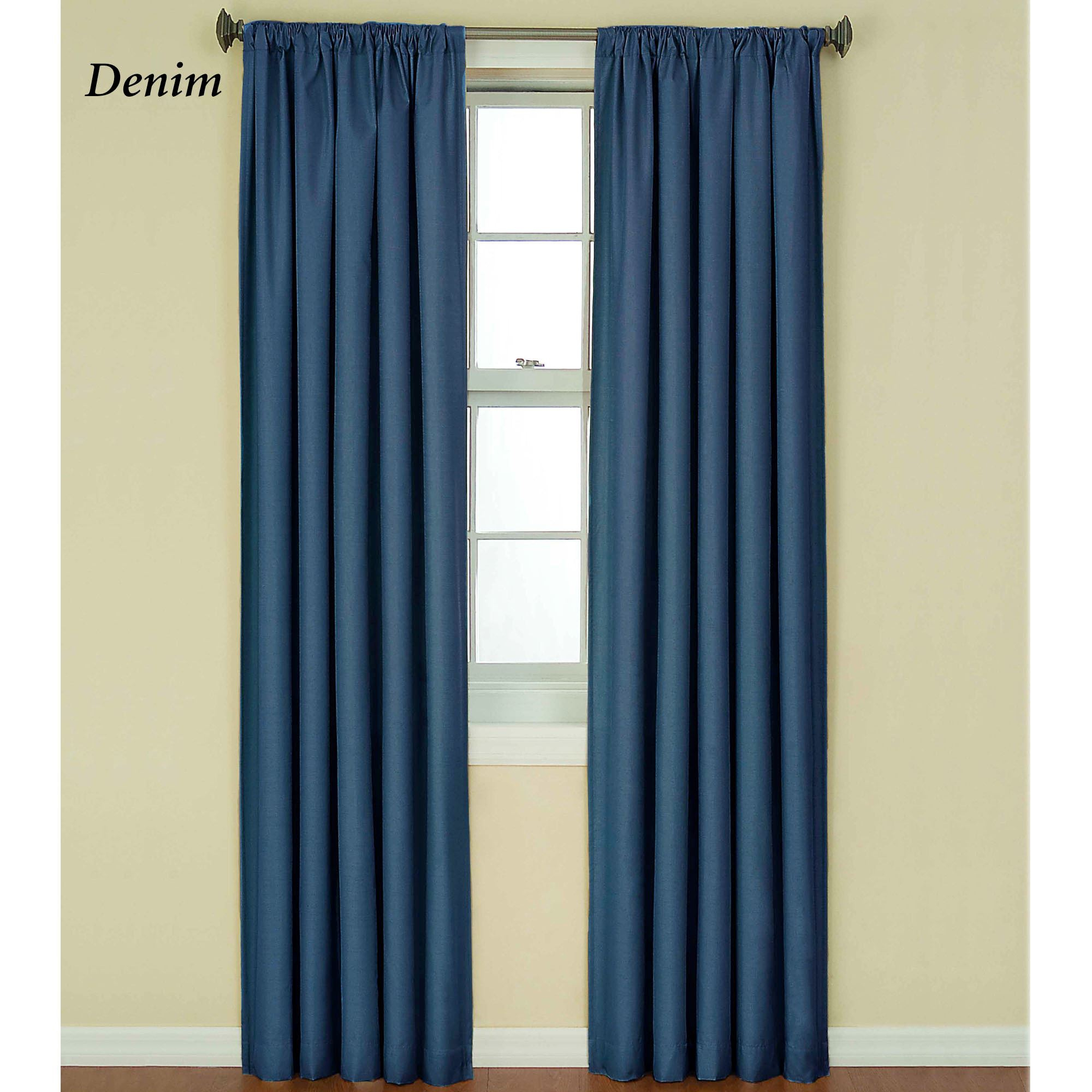 Kendall Bright Thermaback(Tm) Blackout Curtain Panel With Eclipse Kendall Blackout Window Curtain Panels (Gallery 15 of 20)