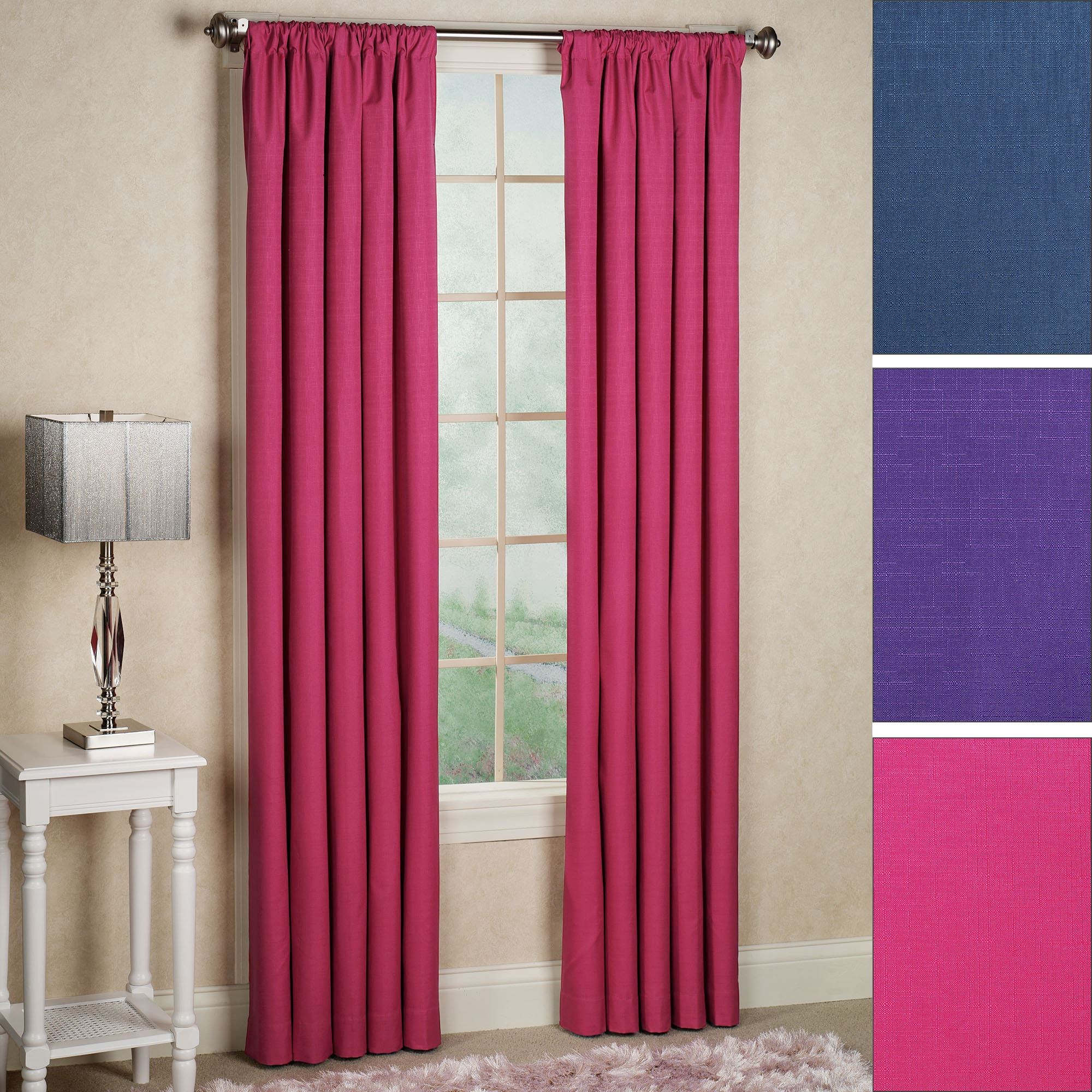 Kendall Bright Thermaback(Tm) Blackout Curtain Panel With Regard To Thermaback Blackout Window Curtains (Photo 8 of 30)