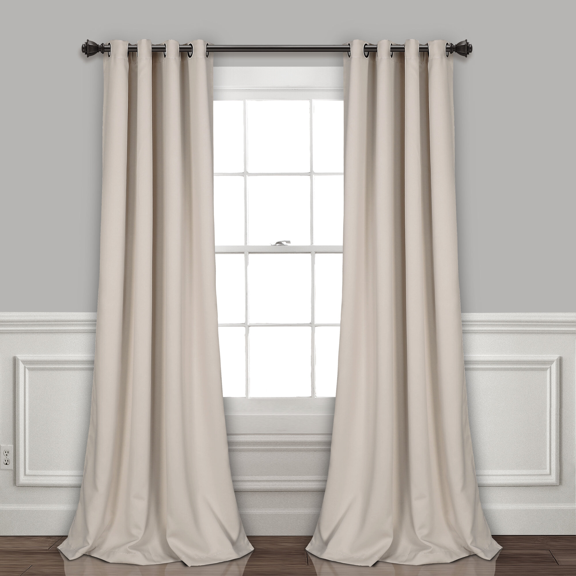 Ketterman Solid Thermal Blackout Grommet Window Panel Pair Pertaining To Insulated Blackout Grommet Window Curtain Panel Pairs (View 13 of 20)