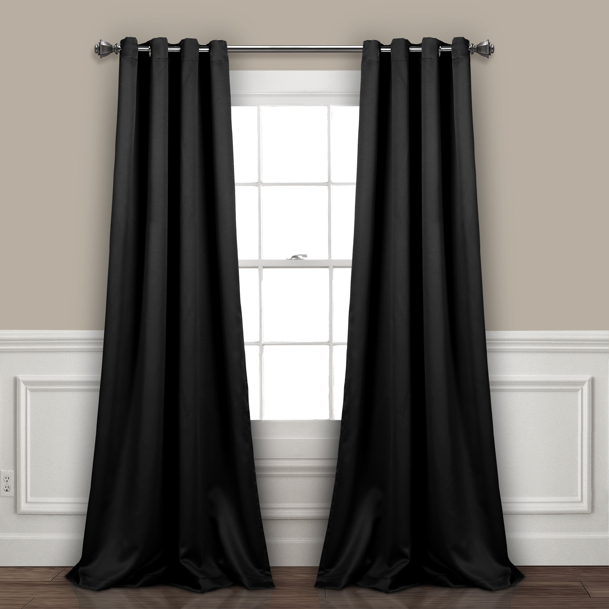 Ketterman Solid Thermal Blackout Grommet Window Panel Pair Pertaining To Solid Insulated Thermal Blackout Curtain Panel Pairs (Gallery 26 of 30)