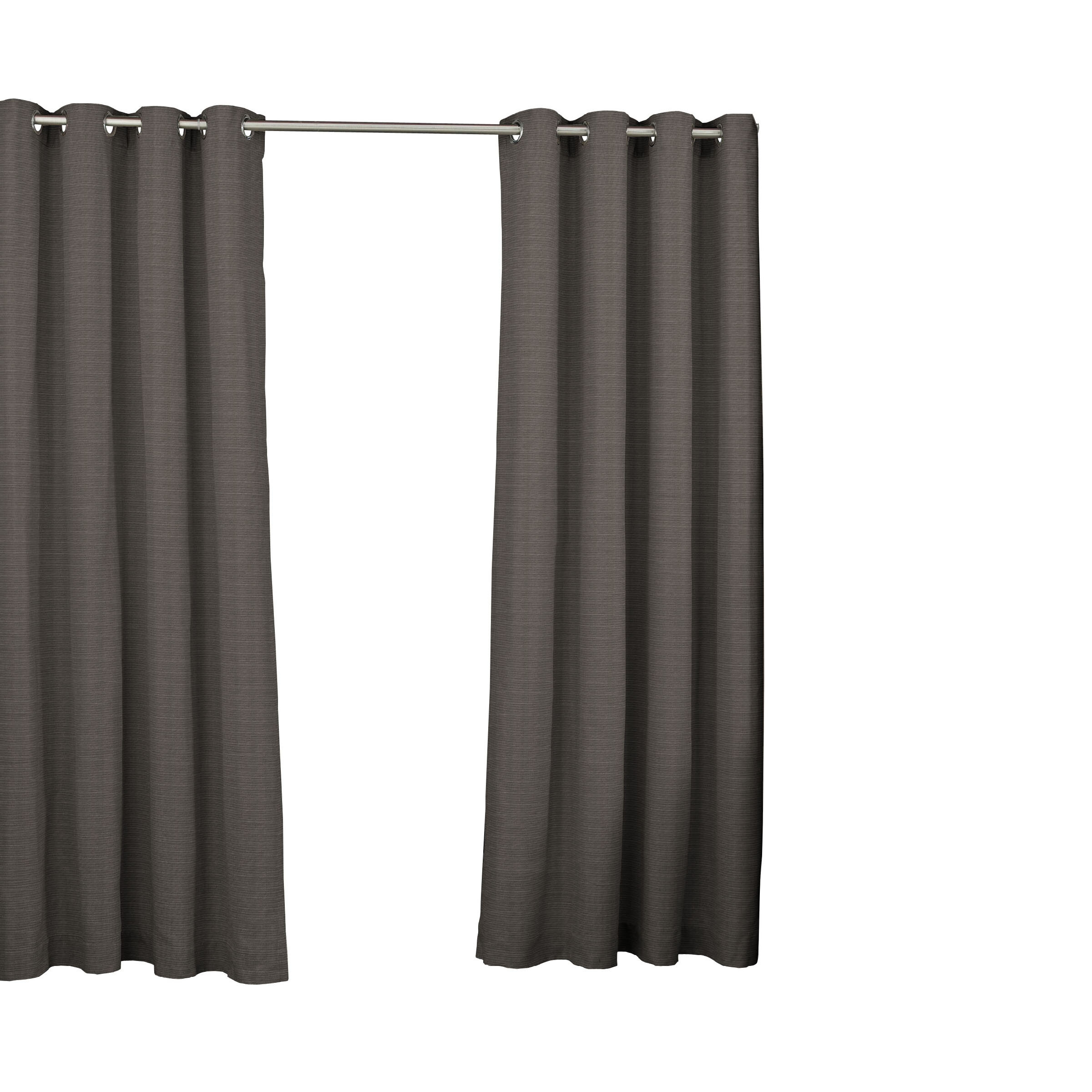 Key Largo Solid Semi Sheer Thermal Grommet Single Curtain Panel Pertaining To Patio Grommet Top Single Curtain Panels (Photo 19 of 20)