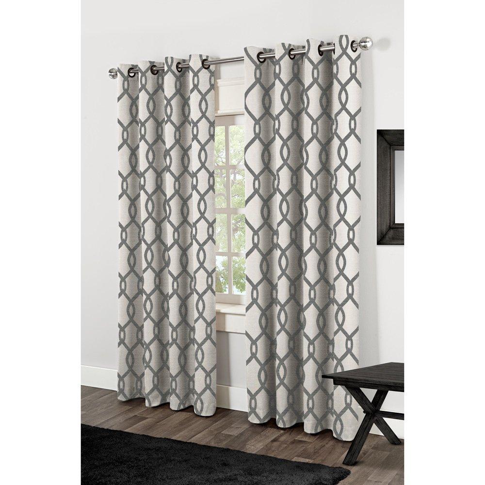 """Kochi Linen Blend Grommet Top Curtain Panel Pair 84"""" (As Is Inside Kochi Linen Blend Window Grommet Top Curtain Panel Pairs (Photo 18 of 20)"""