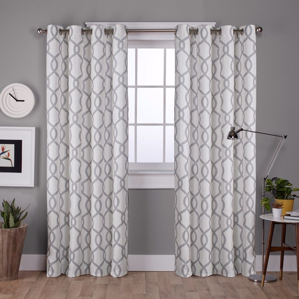 Kochi Linen Blend Grommet Top Window Curtain Panel Pair Dove Intended For Caldwell Curtain Panel Pairs (Gallery 8 of 20)