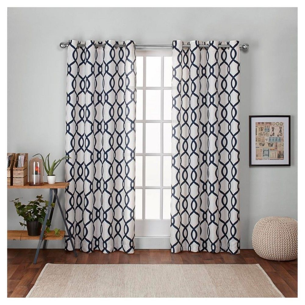Kochi Linen Blend Grommet Top Window Curtain Panel Pair Pertaining To The Curated Nomad Duane Jacquard Grommet Top Curtain Panel Pairs (Gallery 30 of 30)