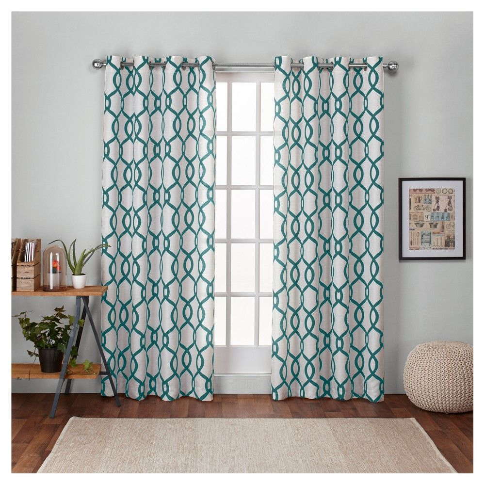 Kochi Linen Blend Grommet Top Window Curtain Panel Pair Within Kochi Linen Blend Window Grommet Top Curtain Panel Pairs (View 5 of 20)