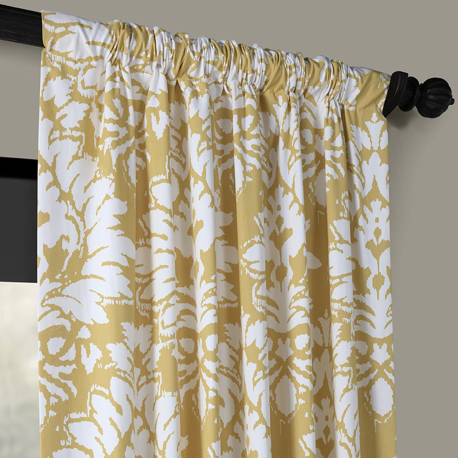 Lacuna Sun Printed Cotton Twill Curtain Throughout Mecca Printed Cotton Single Curtain Panels (View 12 of 20)