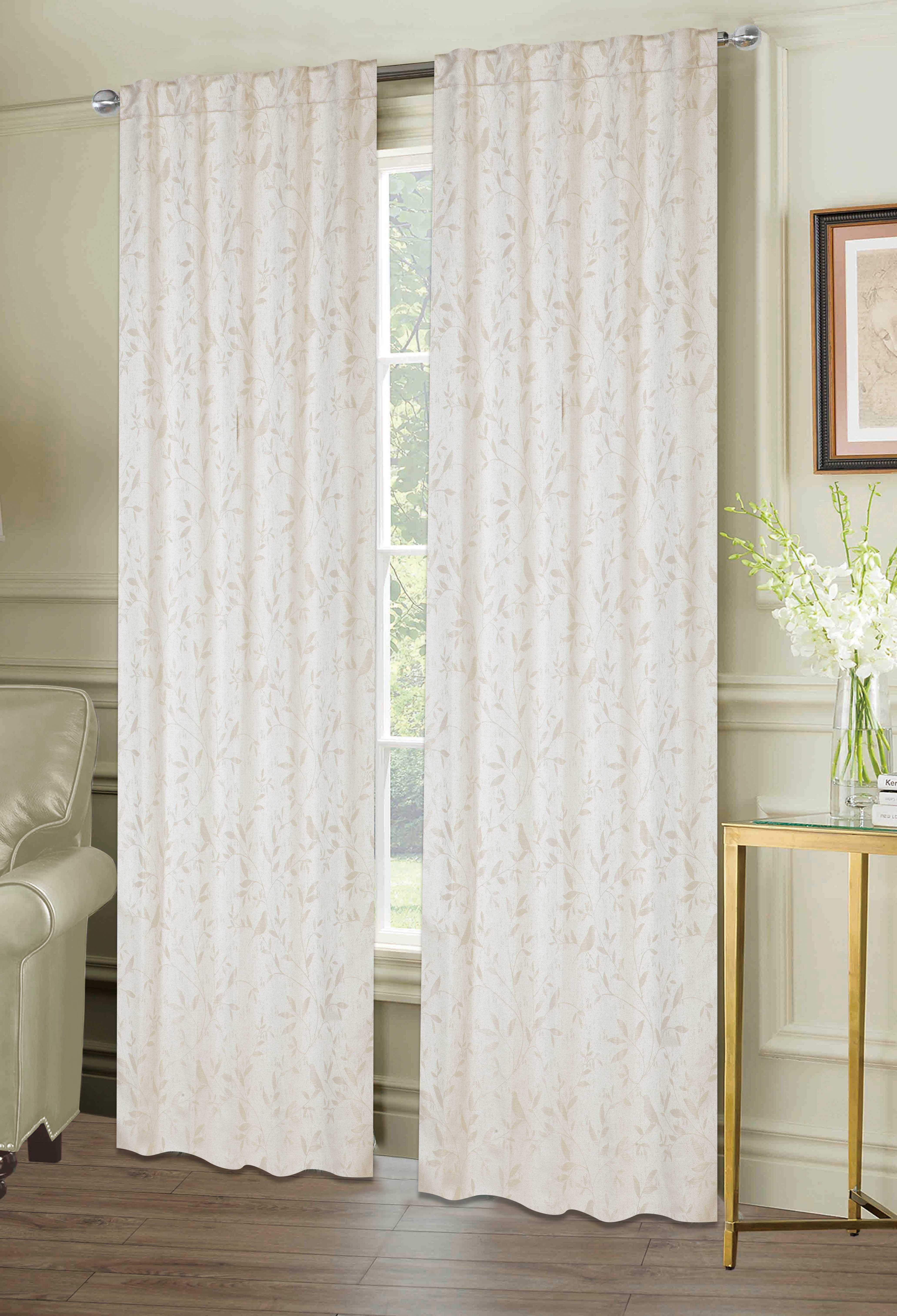 Lamont Window Floral Room Darkening Panel Pair Within Penny Sheer Grommet Top Curtain Panel Pairs (View 13 of 20)