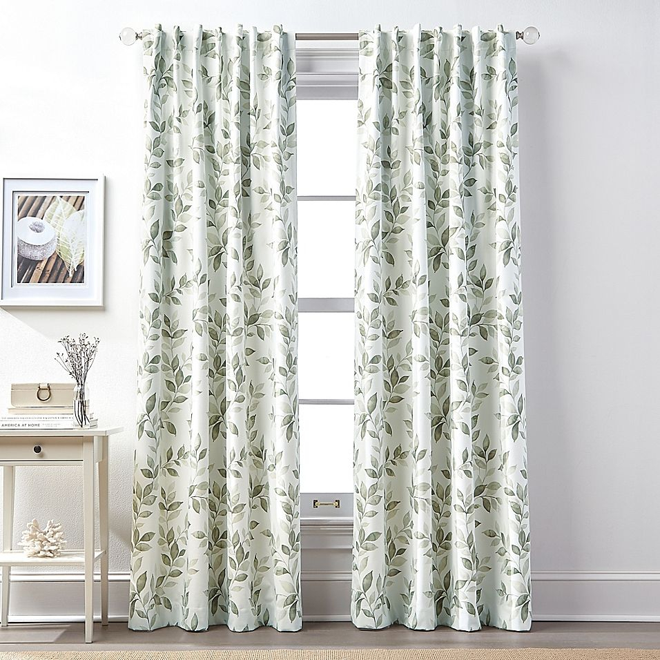 """Lanai 108"""" Rod Pocket/back Tab 100% Blackout Window Curtain With Regard To Superior Leaves Insulated Thermal Blackout Grommet Curtain Panel Pairs (View 23 of 30)"""