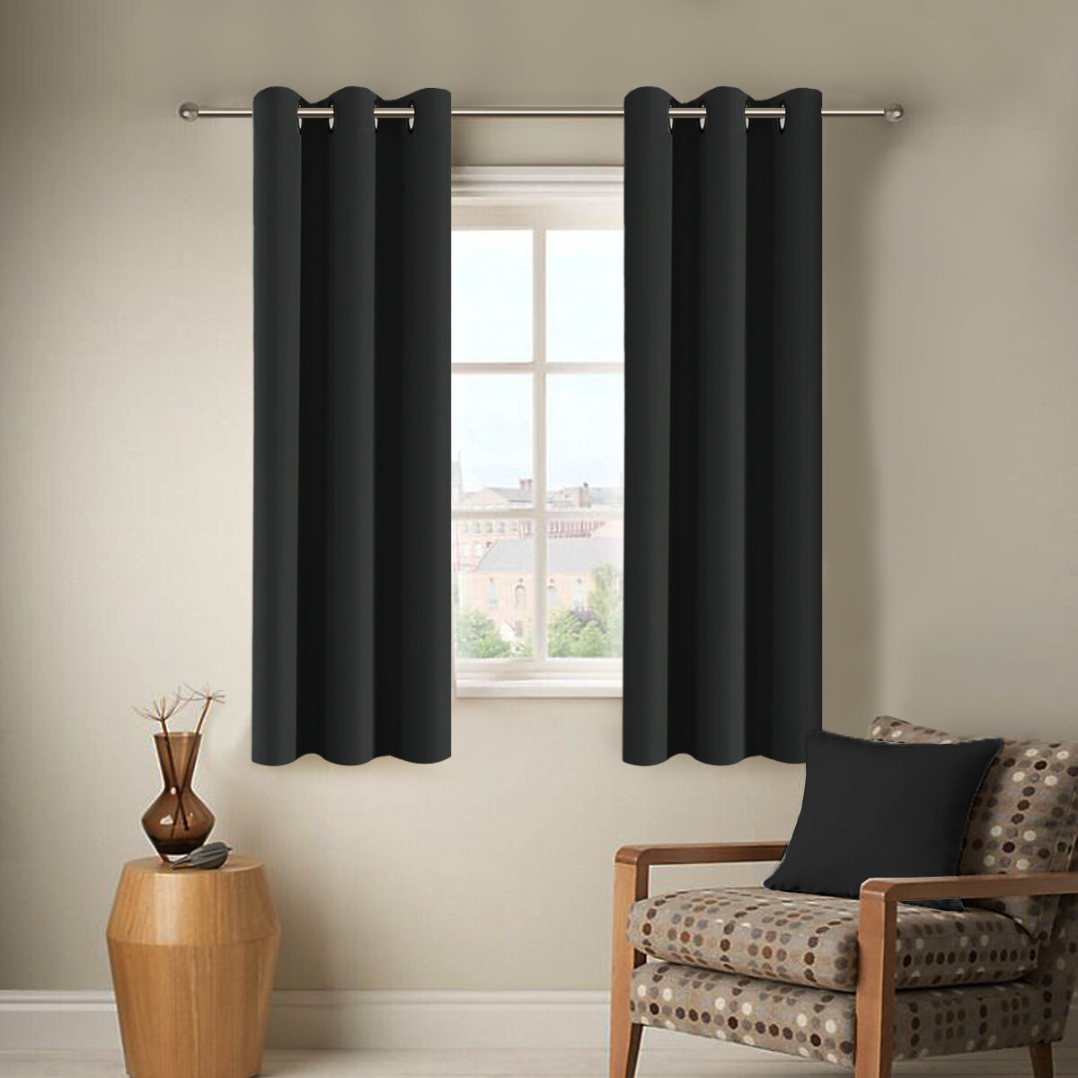 Latitude Run Rosinski Modern Soild Grommet Room Darkening With Regard To Riley Kids Bedroom Blackout Grommet Curtain Panels (View 19 of 20)