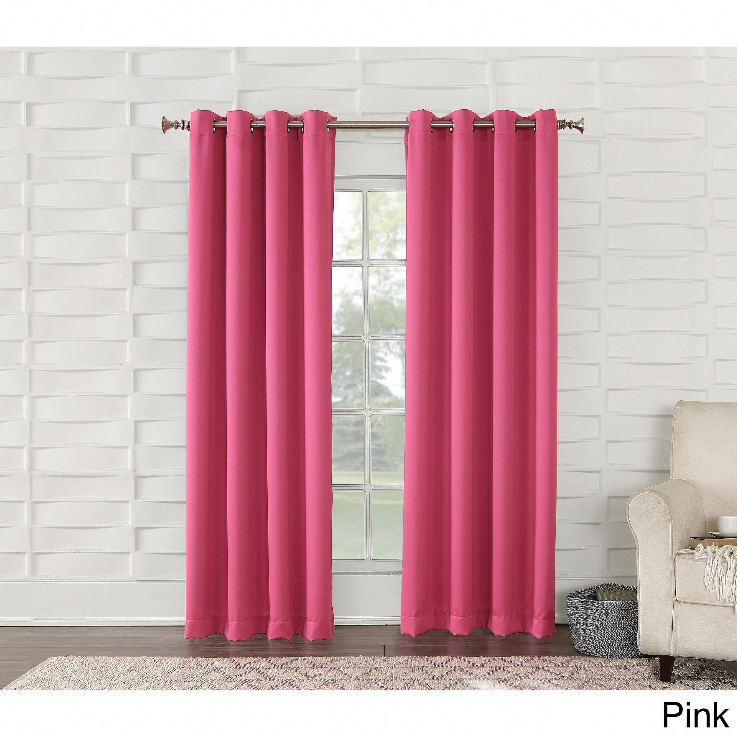 Laurel Creek Manistee Grommet Room Darkening Curtain Panel For Riley Kids Bedroom Blackout Grommet Curtain Panels (View 12 of 20)