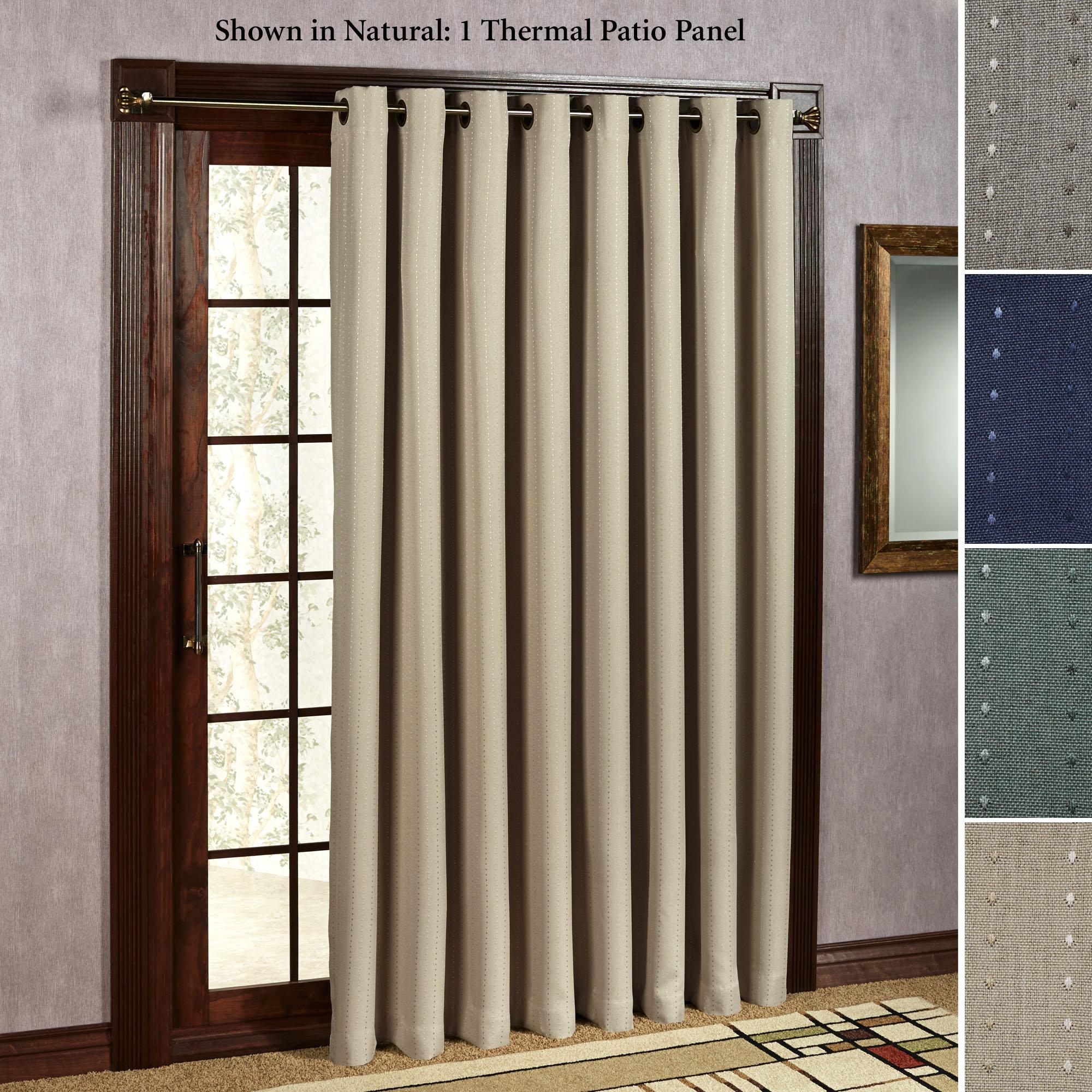 Light Gray Linen Single Panel Curtain For Sliding Glass Door In Grommet Blackout Patio Door Window Curtain Panels (View 18 of 20)