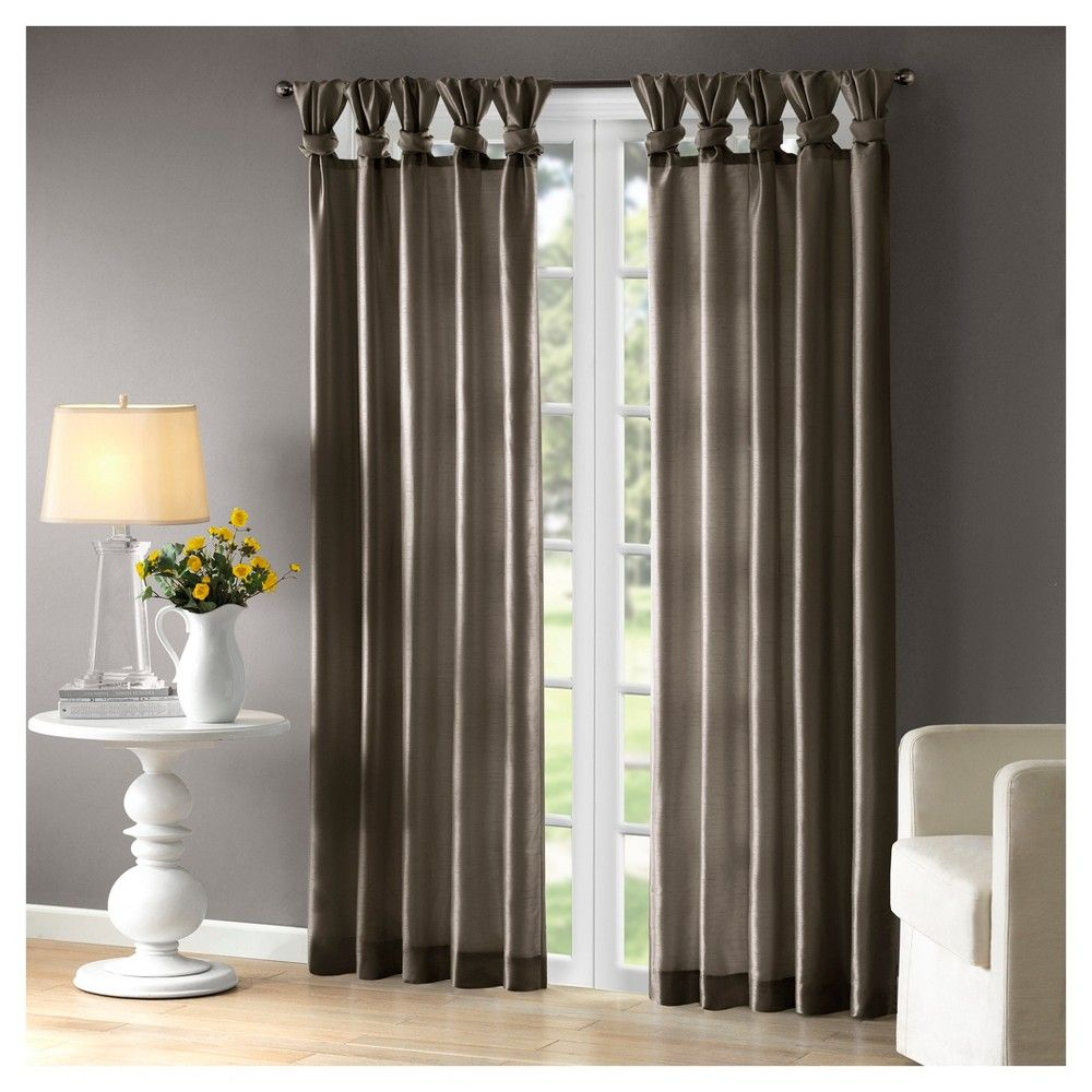 Lillian Twisted Tab Lined Curtain Panel Spice (50x84 In Twisted Tab Lined Single Curtain Panels (View 6 of 30)