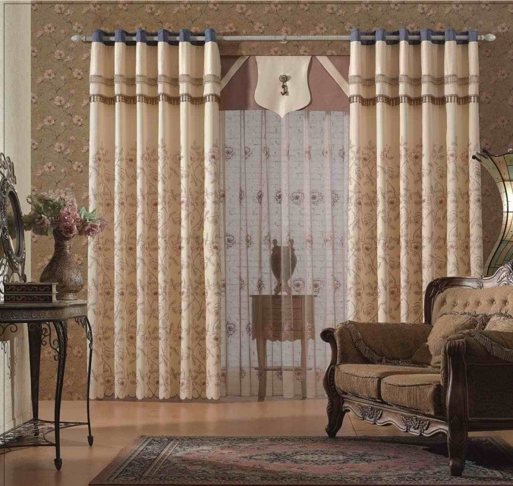 Linen Blue Color Window Curtain Rustic Style Curtains For Throughout Sugar Creek Grommet Top Loha Linen Window Curtain Panel Pairs (View 9 of 30)