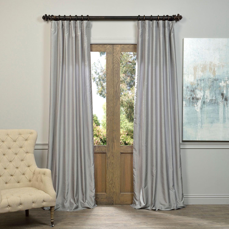 Li>Set Includes: One (1) Panel</li> <Li>Pattern: Textured In Storm Grey Vintage Faux Textured Dupioni Single Silk Curtain Panels (View 25 of 30)