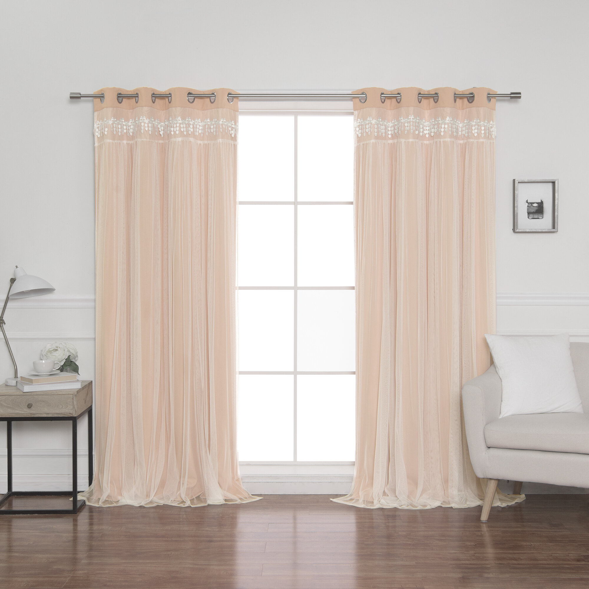 Loar Solid Blackout Thermal Grommet Curtain Panels Intended For Blackout Grommet Curtain Panels (View 18 of 20)