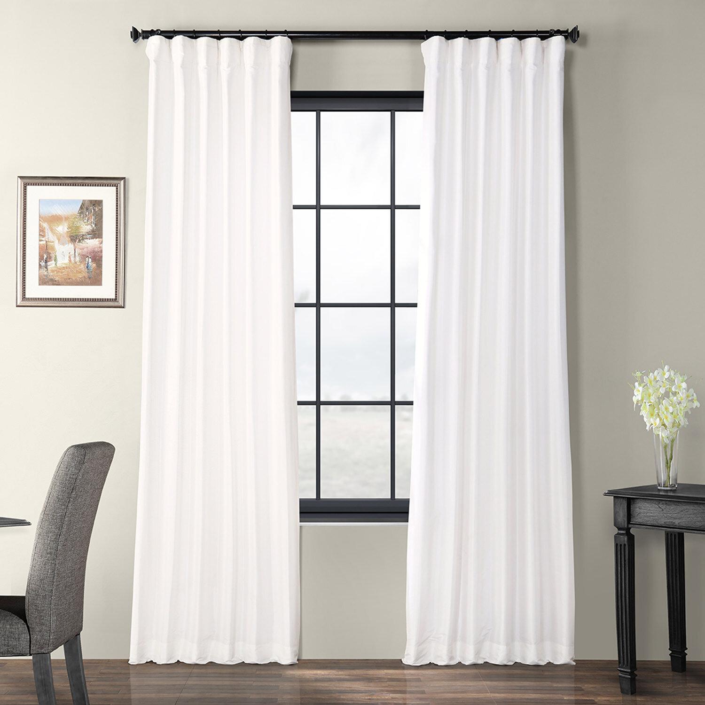 Lochleven Faux Silk Taffeta Solid Room Polyester Darkening Single Curtain Panel For Faux Silk Taffeta Solid Blackout Single Curtain Panels (View 6 of 20)