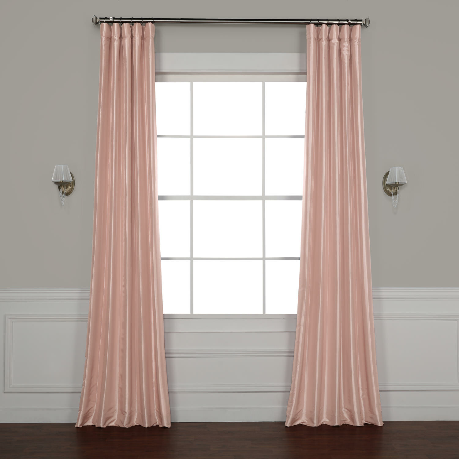 Lochleven Faux Silk Taffeta Solid Room Polyester Darkening Single Curtain Panel Pertaining To Solid Faux Silk Taffeta Graphite Single Curtain Panels (View 24 of 30)