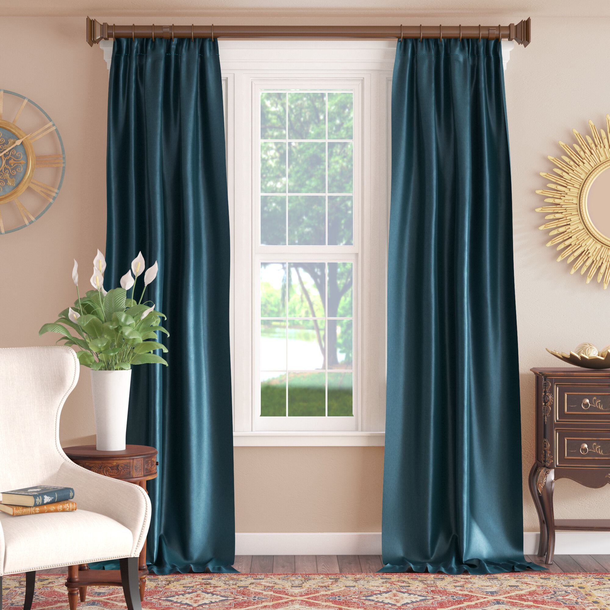 Lochleven Faux Silk Taffeta Solid Room Polyester Darkening Single Curtain Panel With Solid Faux Silk Taffeta Graphite Single Curtain Panels (View 25 of 30)