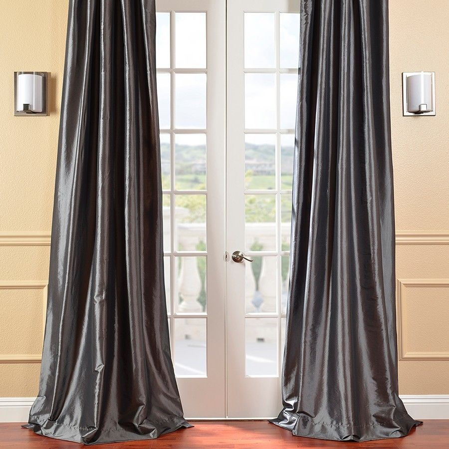 Lochleven Faux Silk Taffeta Solid Room Polyester Darkening Within Solid Faux Silk Taffeta Graphite Single Curtain Panels (View 26 of 30)