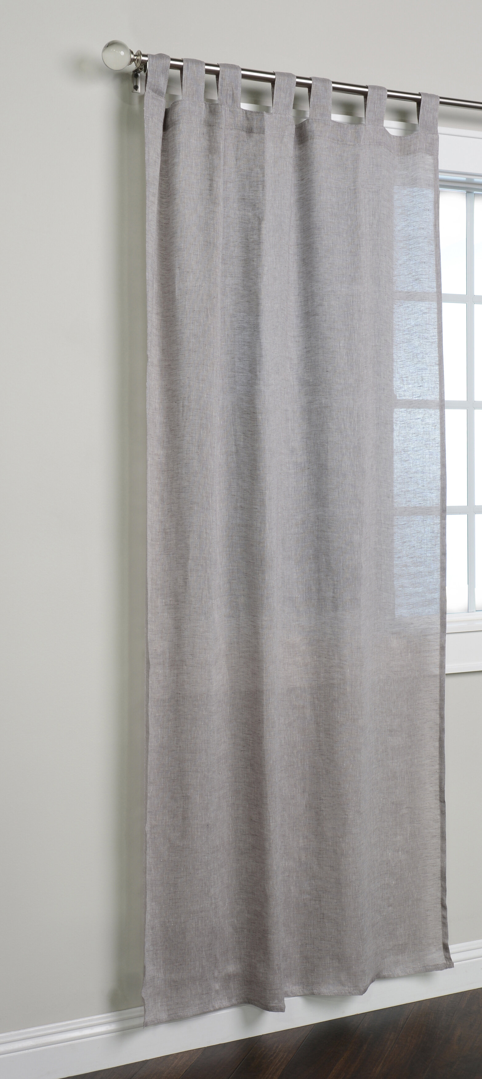 Logan Single Curtain Panel For Vue Elements Priya Tab Top Window Curtains (View 22 of 30)