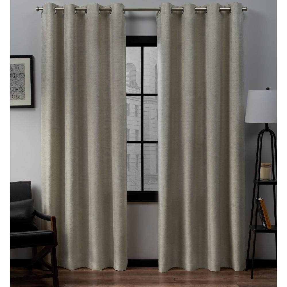 Loha 54 In. W X 84 In. L Linen Blend Grommet Top Curtain Panel In Natural  (2 Panels) pertaining to Grommet Curtain Panels (Image 12 of 20)