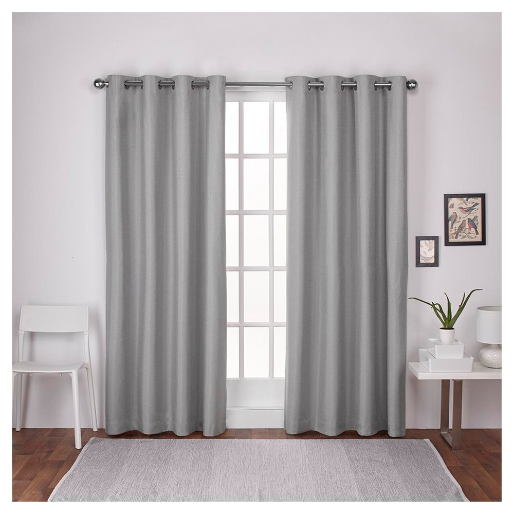 London Thermal Textured Linen Grommet Top Window Curtain Throughout Sugar Creek Grommet Top Loha Linen Window Curtain Panel Pairs (View 24 of 30)
