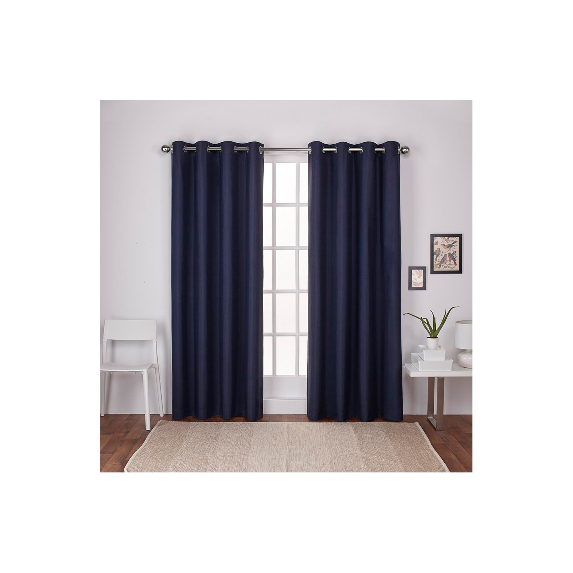London Thermal Textured Linen Grommet Top Window Curtain Throughout Thermal Textured Linen Grommet Top Curtain Panel Pairs (View 11 of 30)