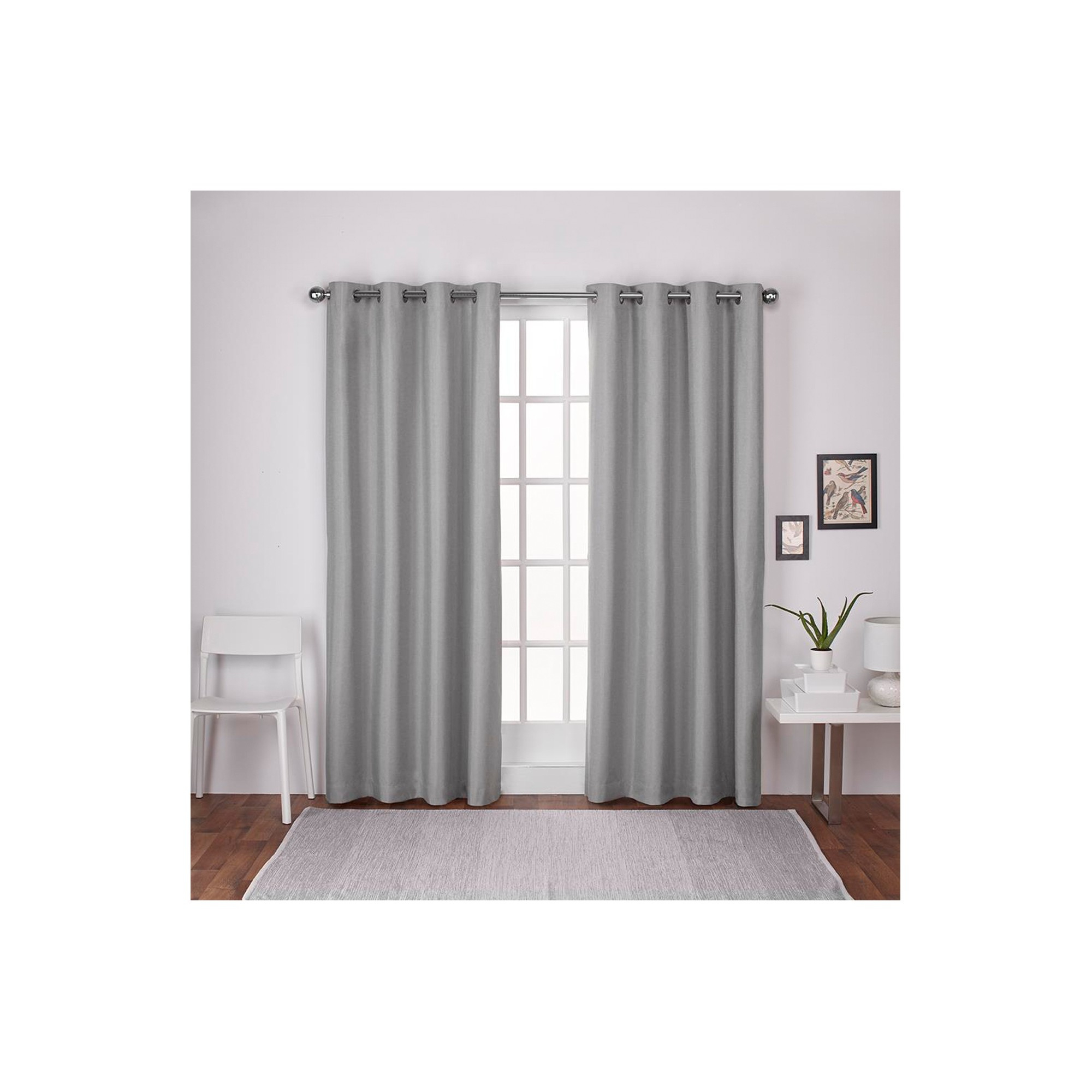 London Thermal Textured Linen Grommet Top Window Curtain With Thermal Textured Linen Grommet Top Curtain Panel Pairs (View 5 of 30)