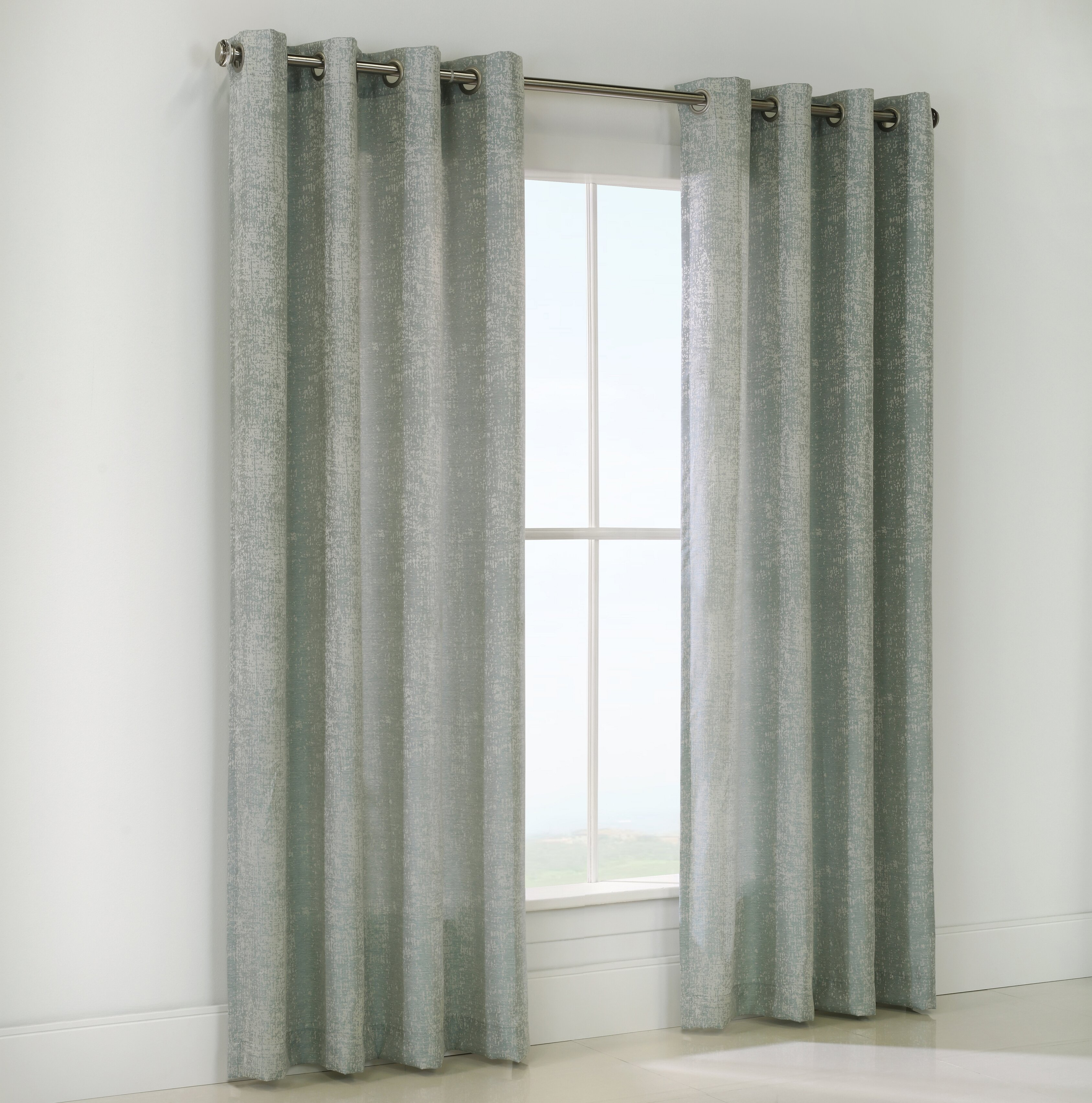 Louisa Abstract Room Darkening Grommet Single Curtain Panel Intended For Total Blackout Metallic Print Grommet Top Curtain Panels (View 13 of 36)