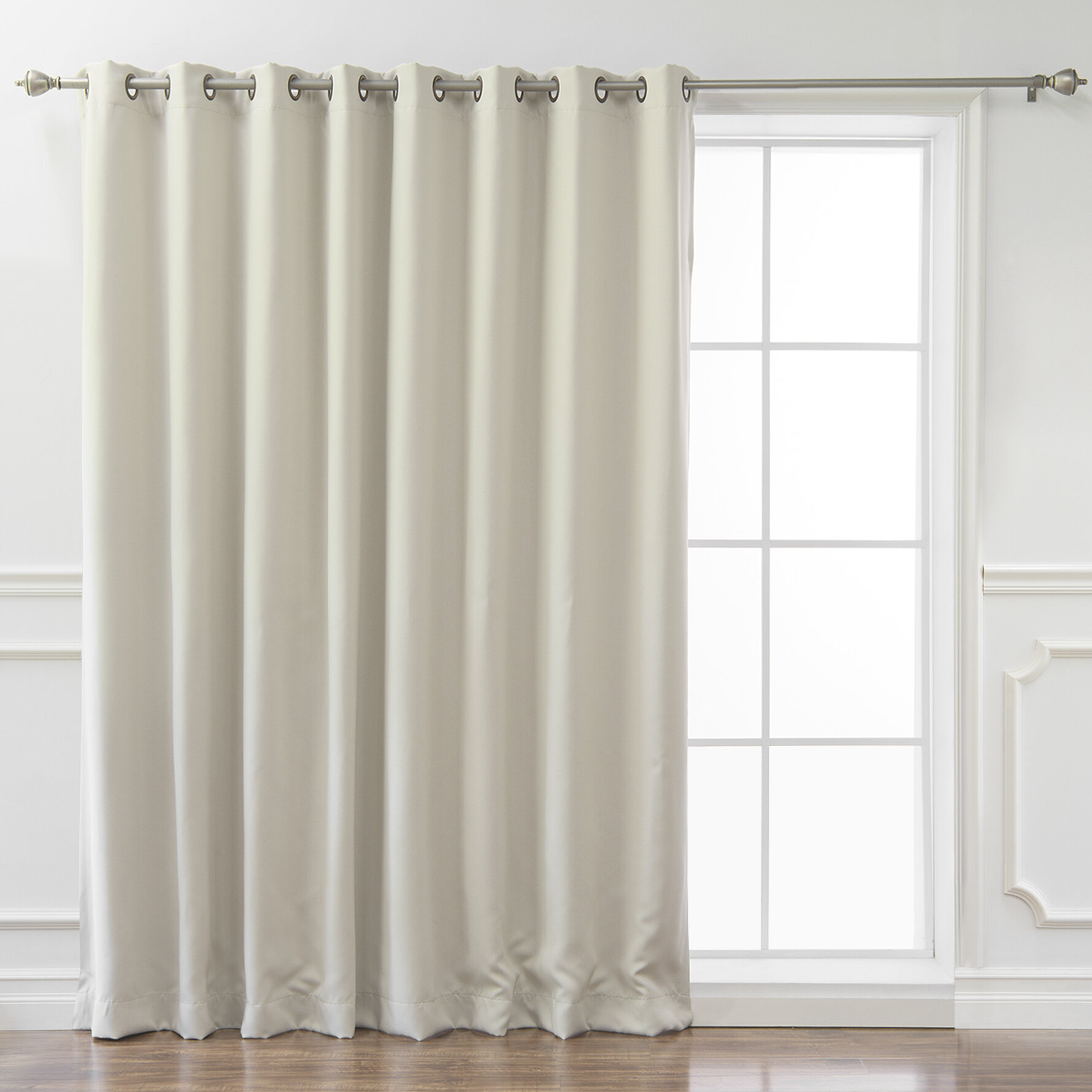 Lucca Solid Blackout Thermal Grommet Single Curtain Panel throughout Luxury Collection Venetian Sheer Curtain Panel Pairs (Image 13 of 20)