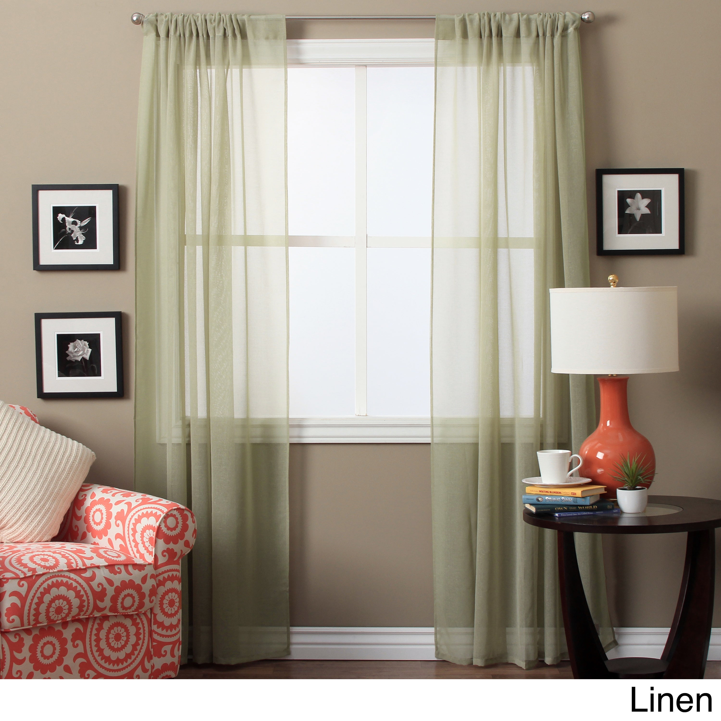 Lucerne 72 Inch Sheer Curtain Panel Pair – 52 X 72 For Luxury Collection Summit Sheer Curtain Panel Pairs (View 5 of 20)