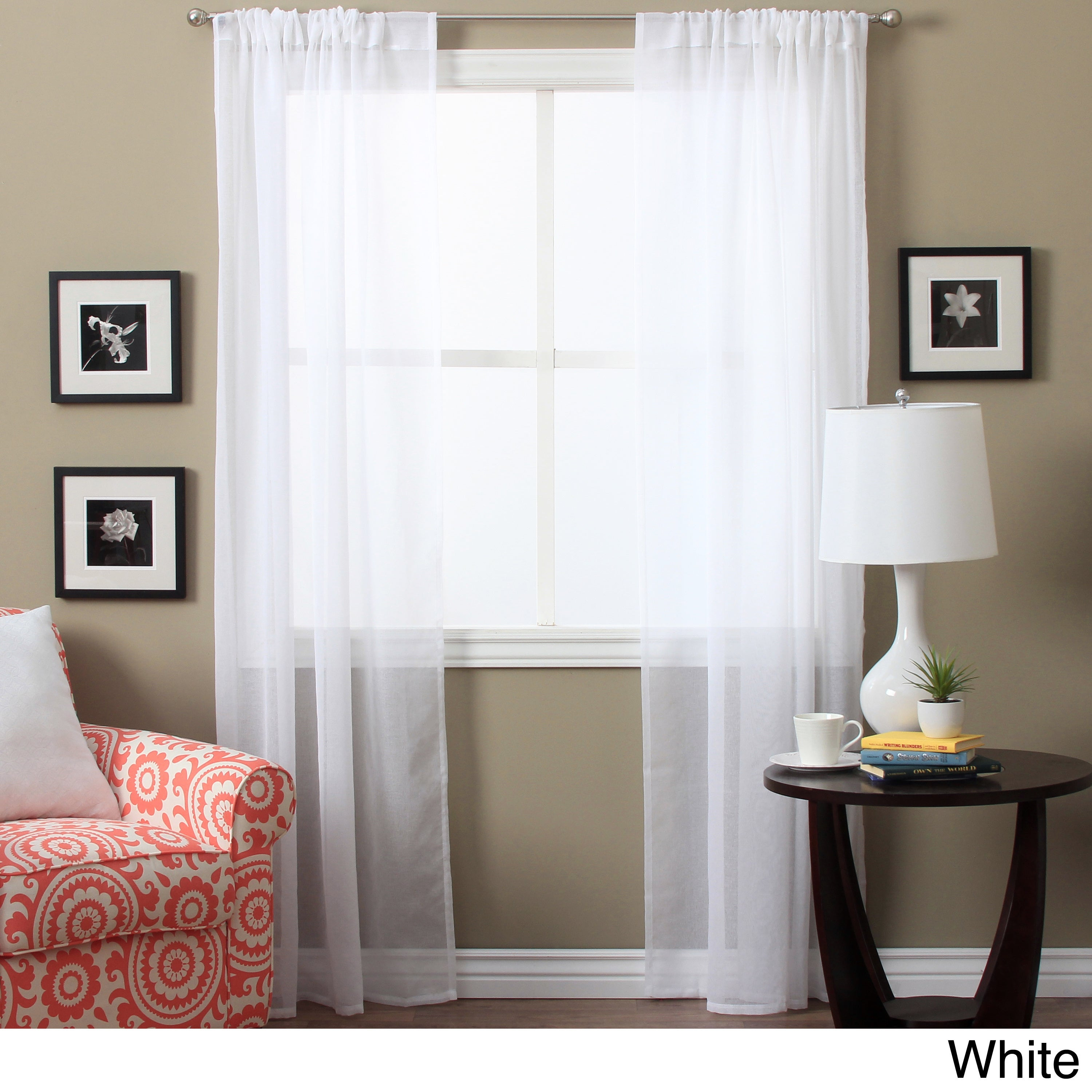 Lucerne 72 Inch Sheer Curtain Panel Pair – 52 X 72 Intended For Luxury Collection Summit Sheer Curtain Panel Pairs (View 3 of 20)