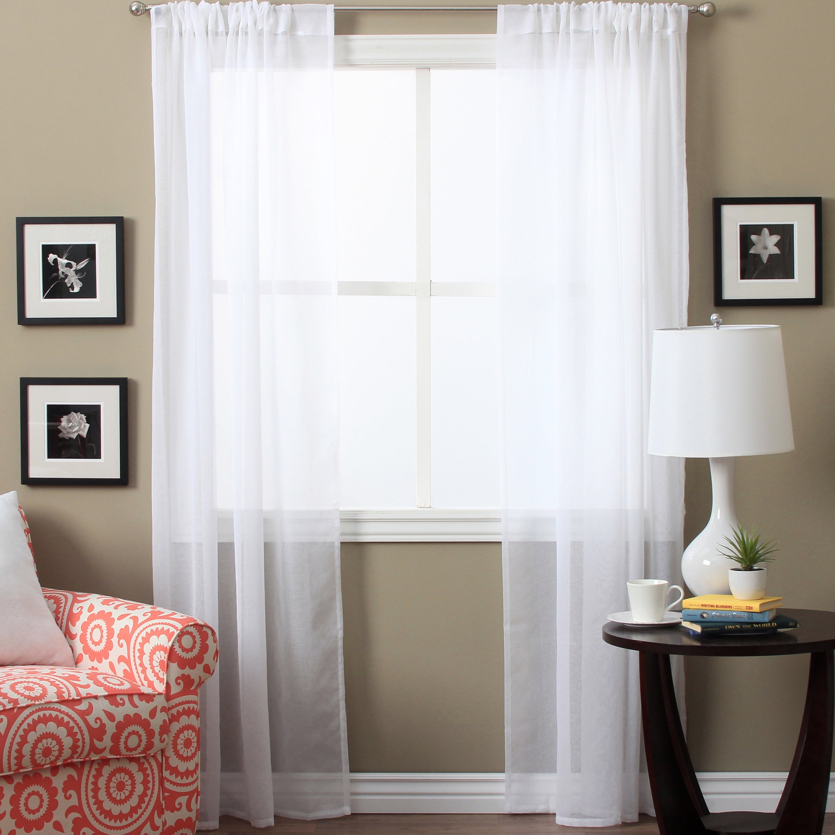 Lucerne Sheer 96 Inch Curtain Panel Pair – 52 X 96 With The Gray Barn Kind Koala Curtain Panel Pairs (View 16 of 30)